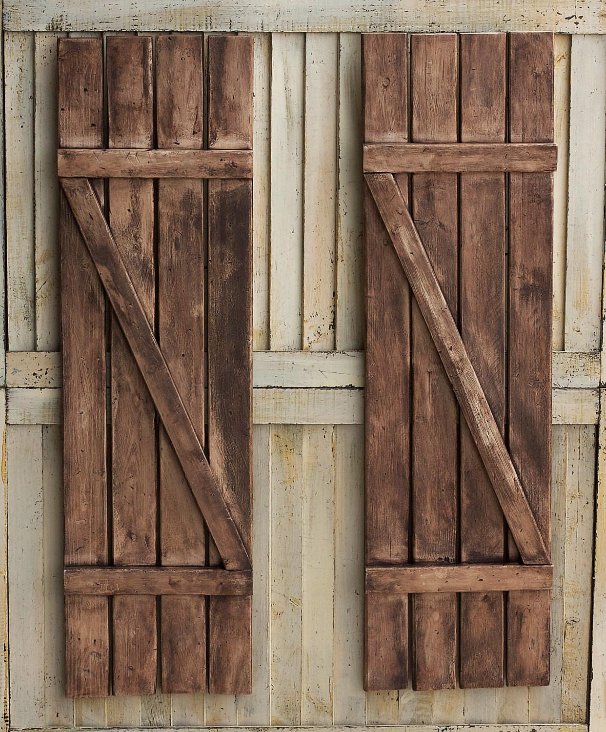 Rustic Shutters Farmhouse Country