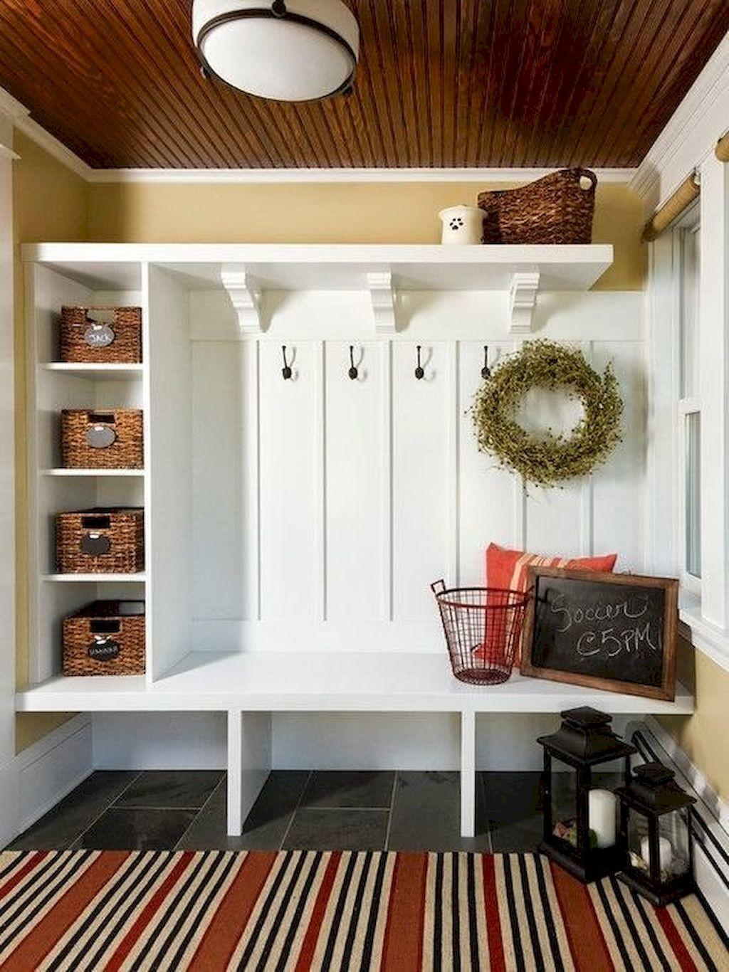 Rustic Small Mudroom Bench Ideas Insidecorate