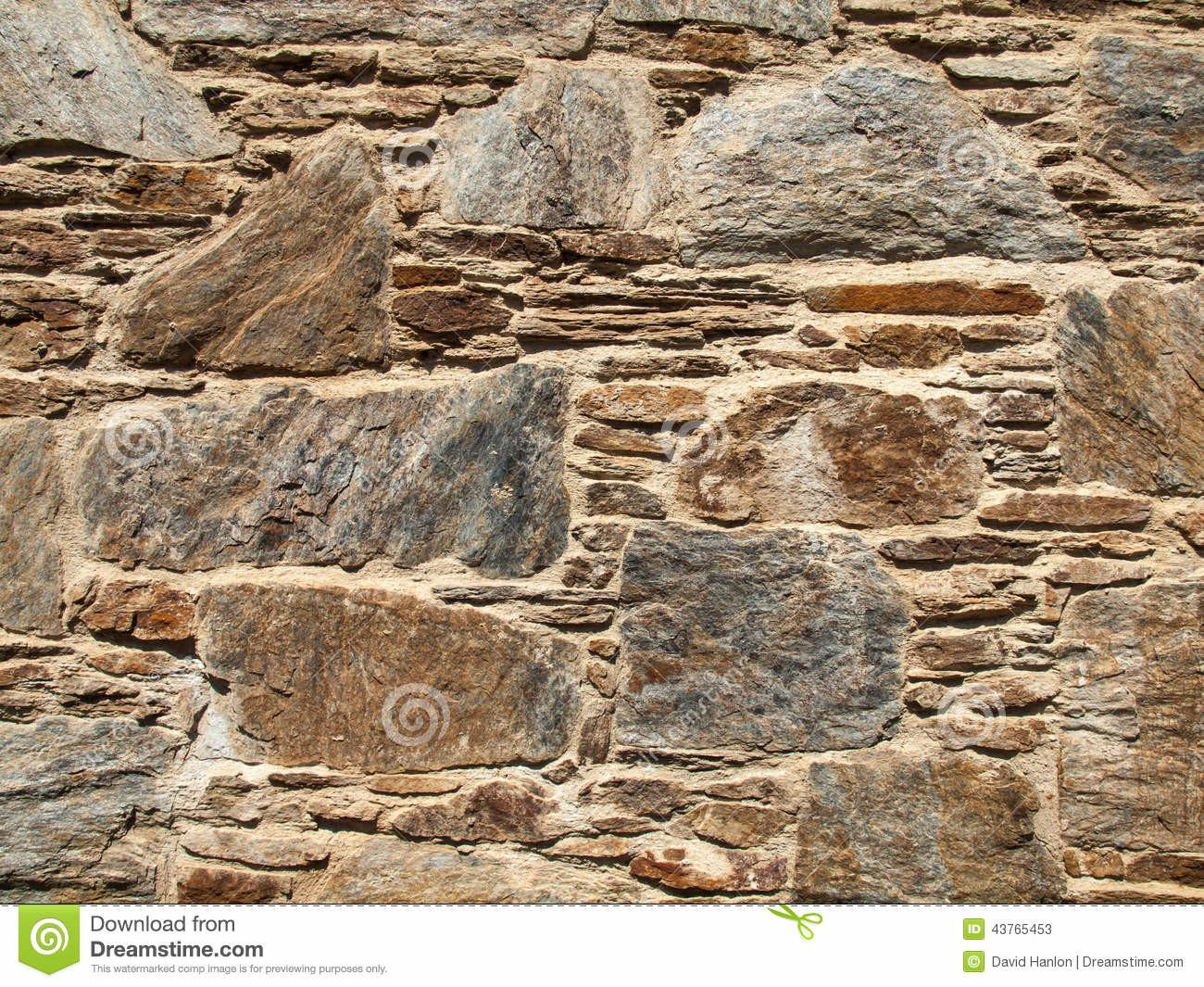 Rustic Stone Wall Stock Rough