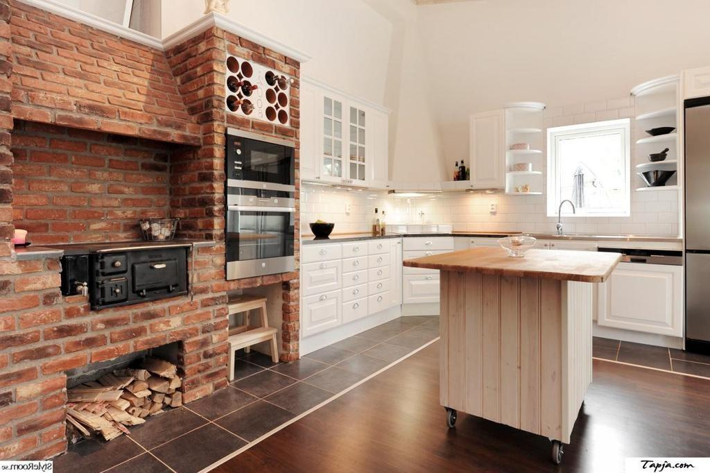 Rustic Style Brick Kitchens Wall Decoration Ideas Old