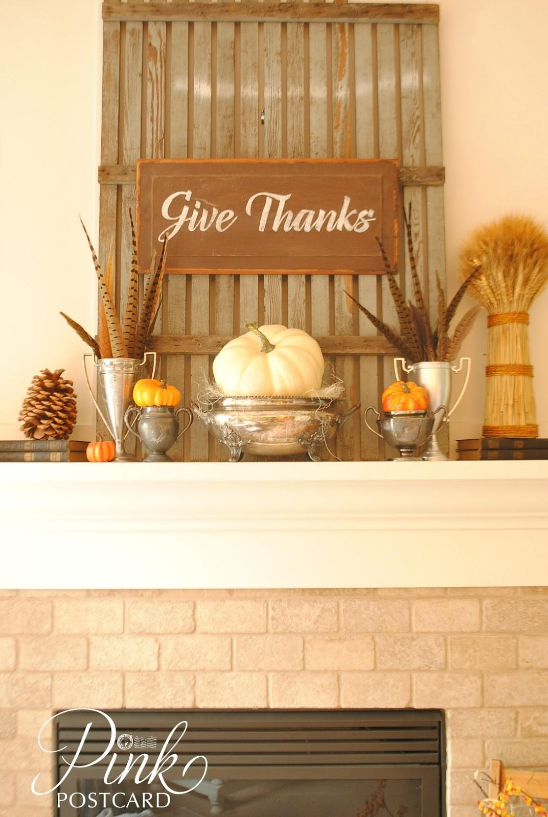Rustic Thanksgiving Mantel Noble Vintage