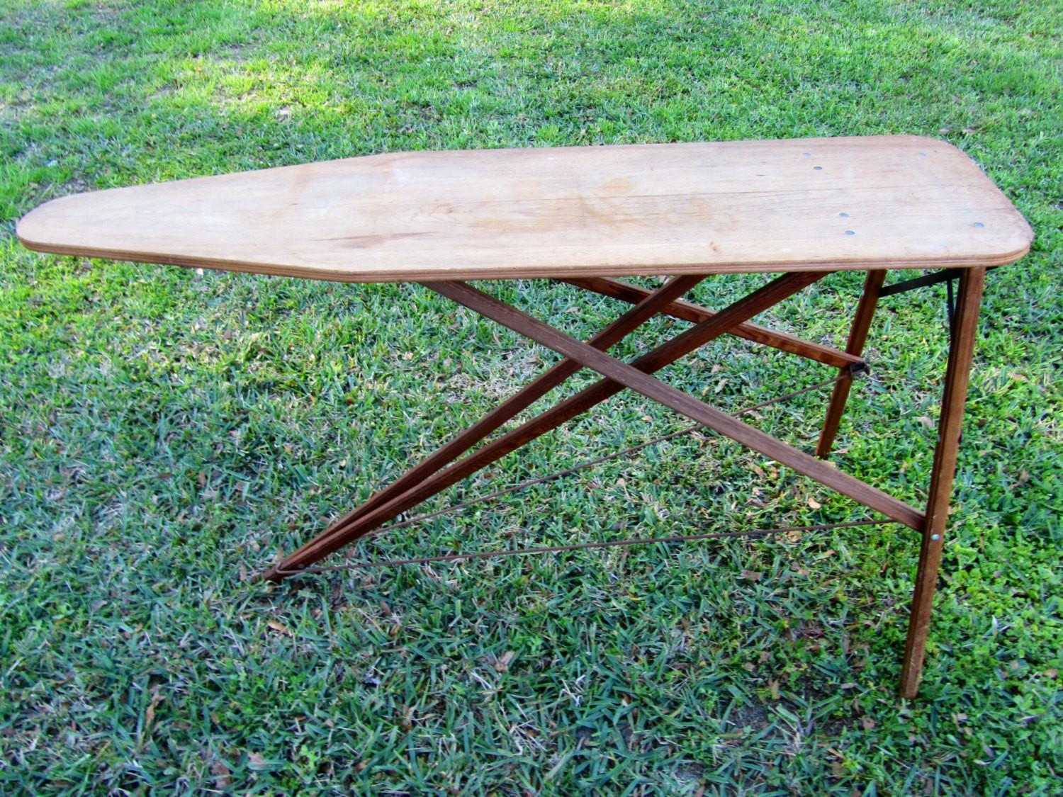 Rustic Vintage Wooden Ironing Board
