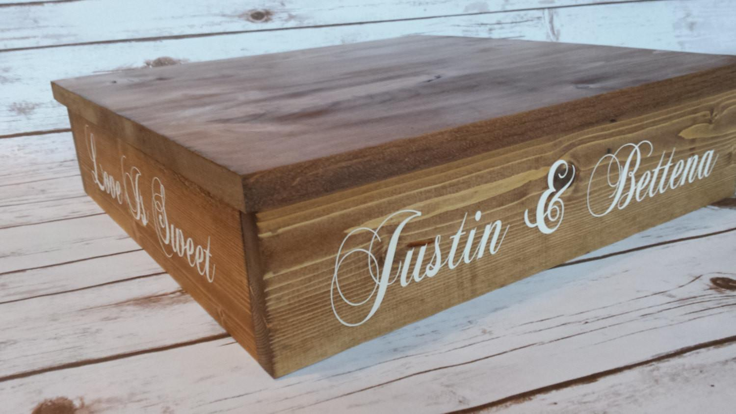 Rustic Wedding Cake Stand Cupcake Wood