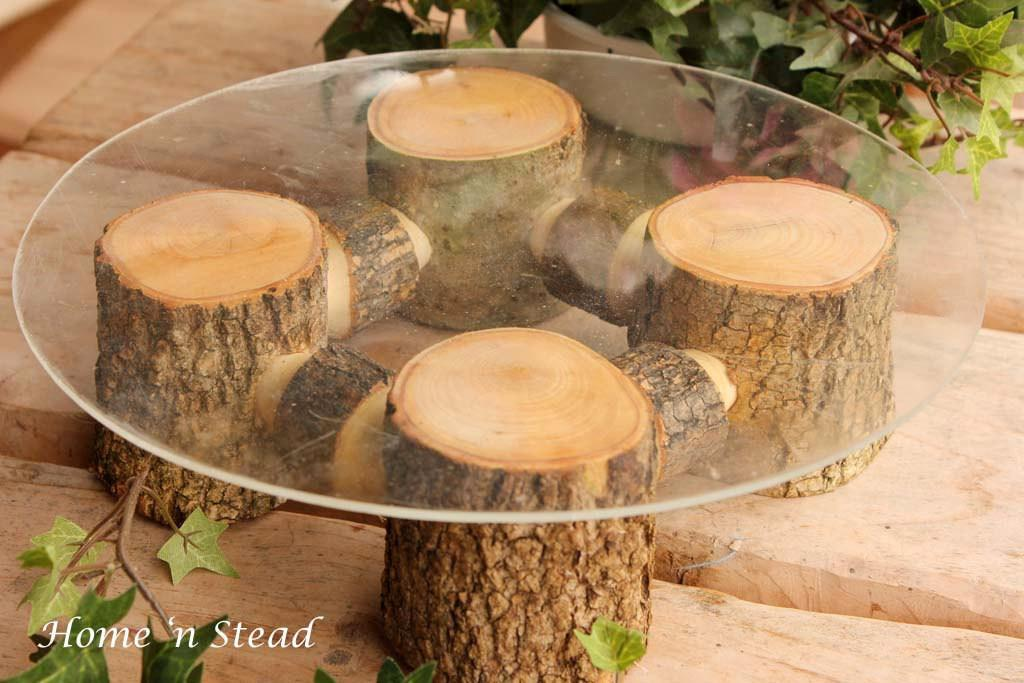 Rustic Wedding Cake Stand Table Decoration Ash Wood