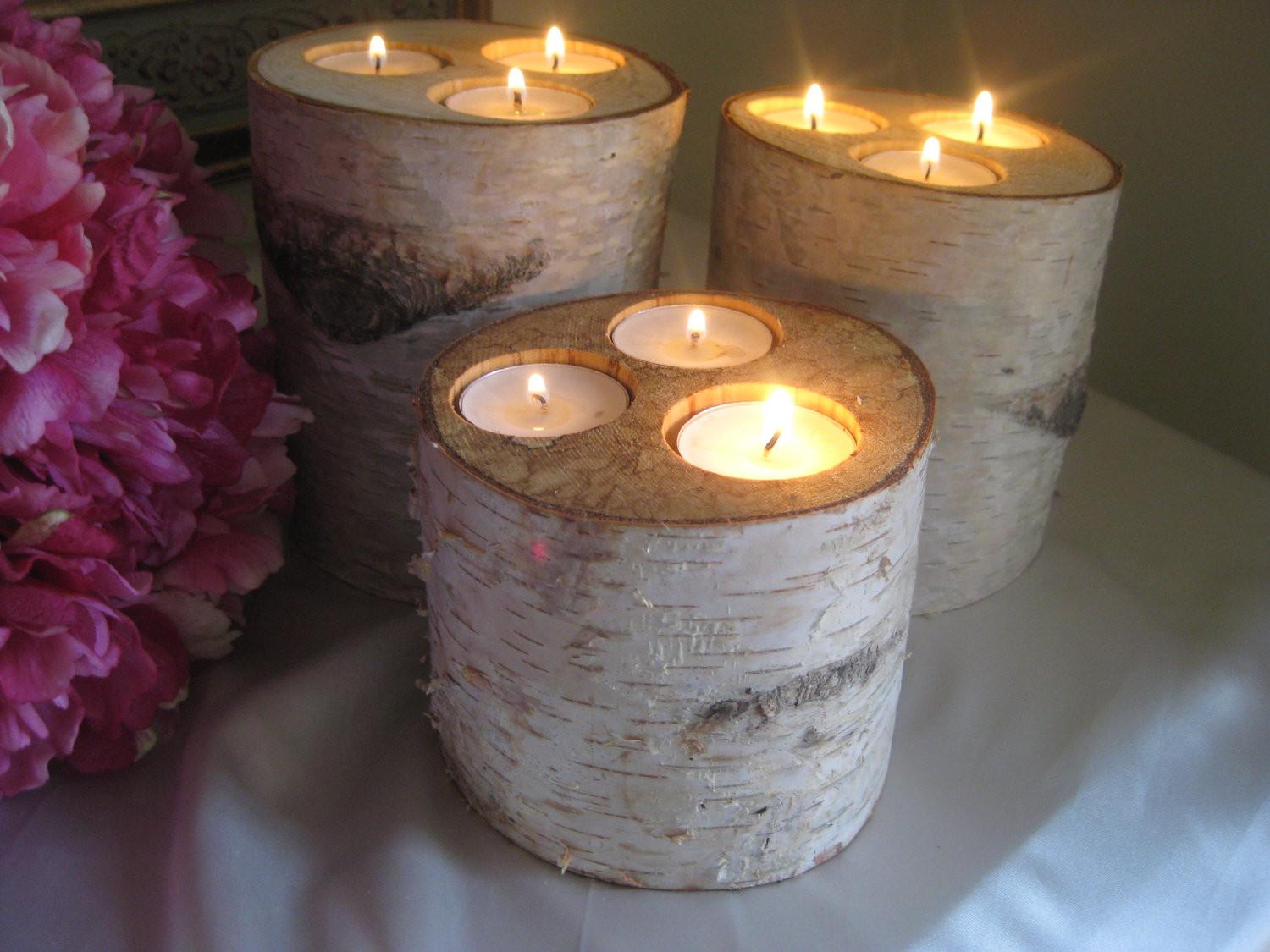Rustic Wedding Centerpieces Candles