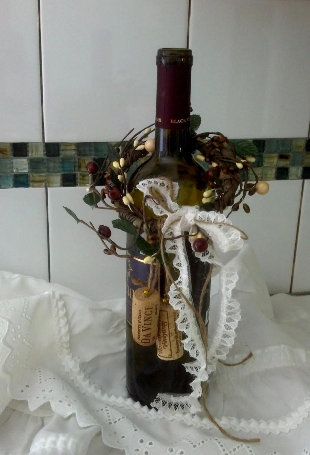 Rustic Wedding Centerpieces Wine Bottle Toppers Bridal Shower