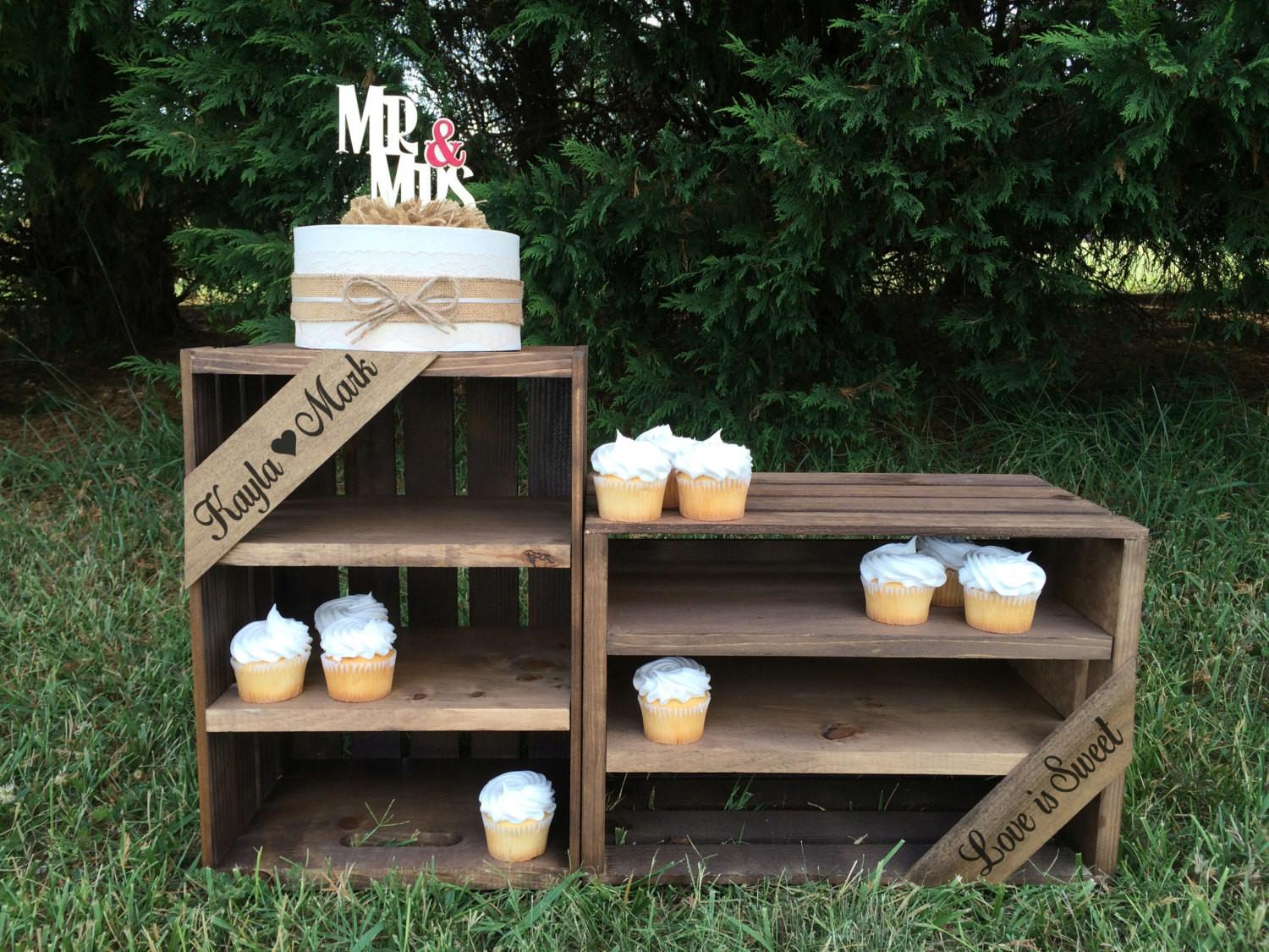 Rustic Wedding Cupcake Stand Favor