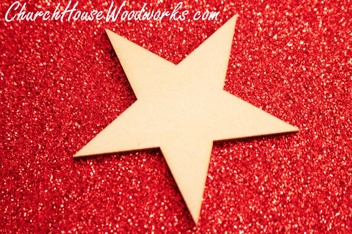 Rustic Weddings Wooden Star Ornaments Christmas Diy