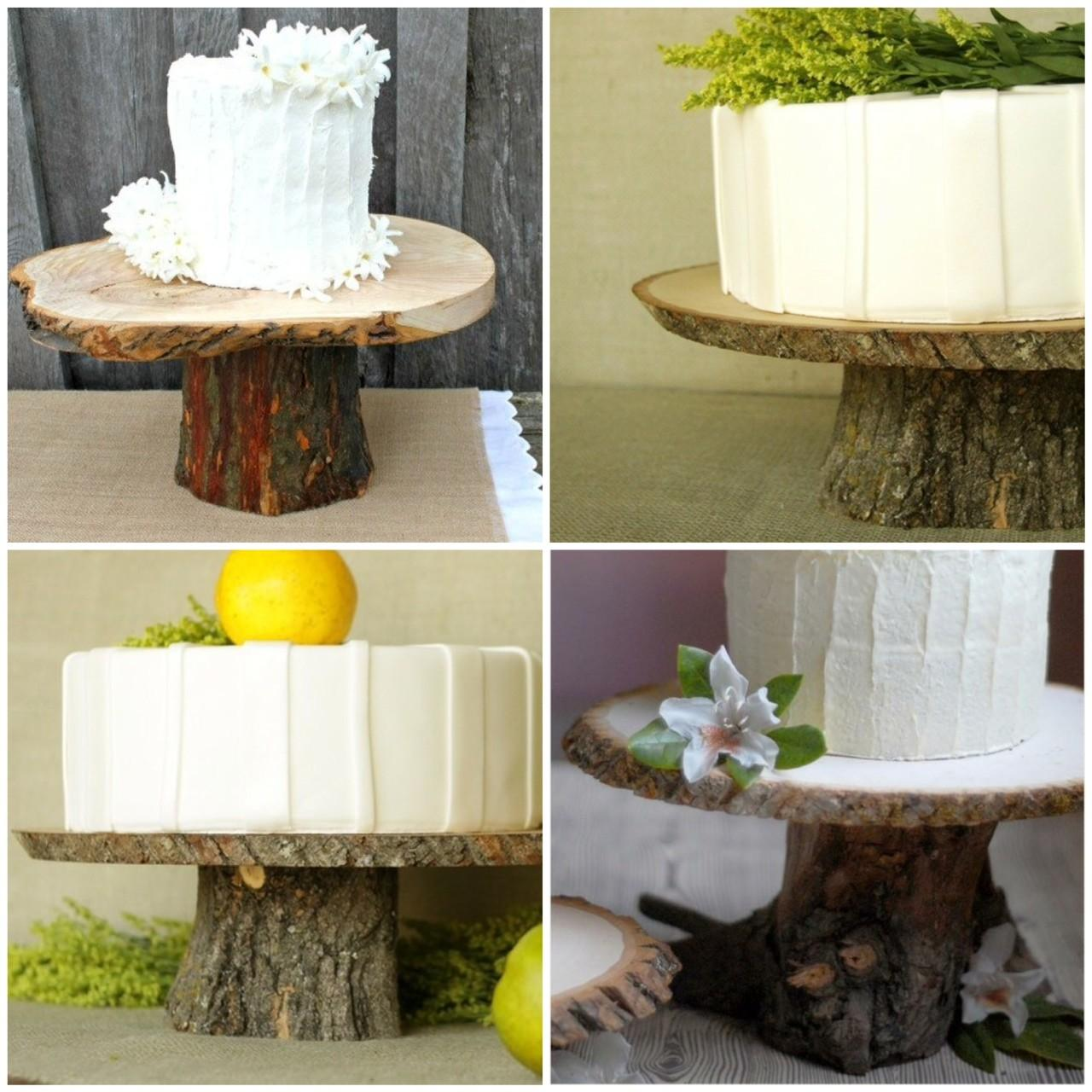 Rustic Wood Cake Stands Diy Glitter Inc