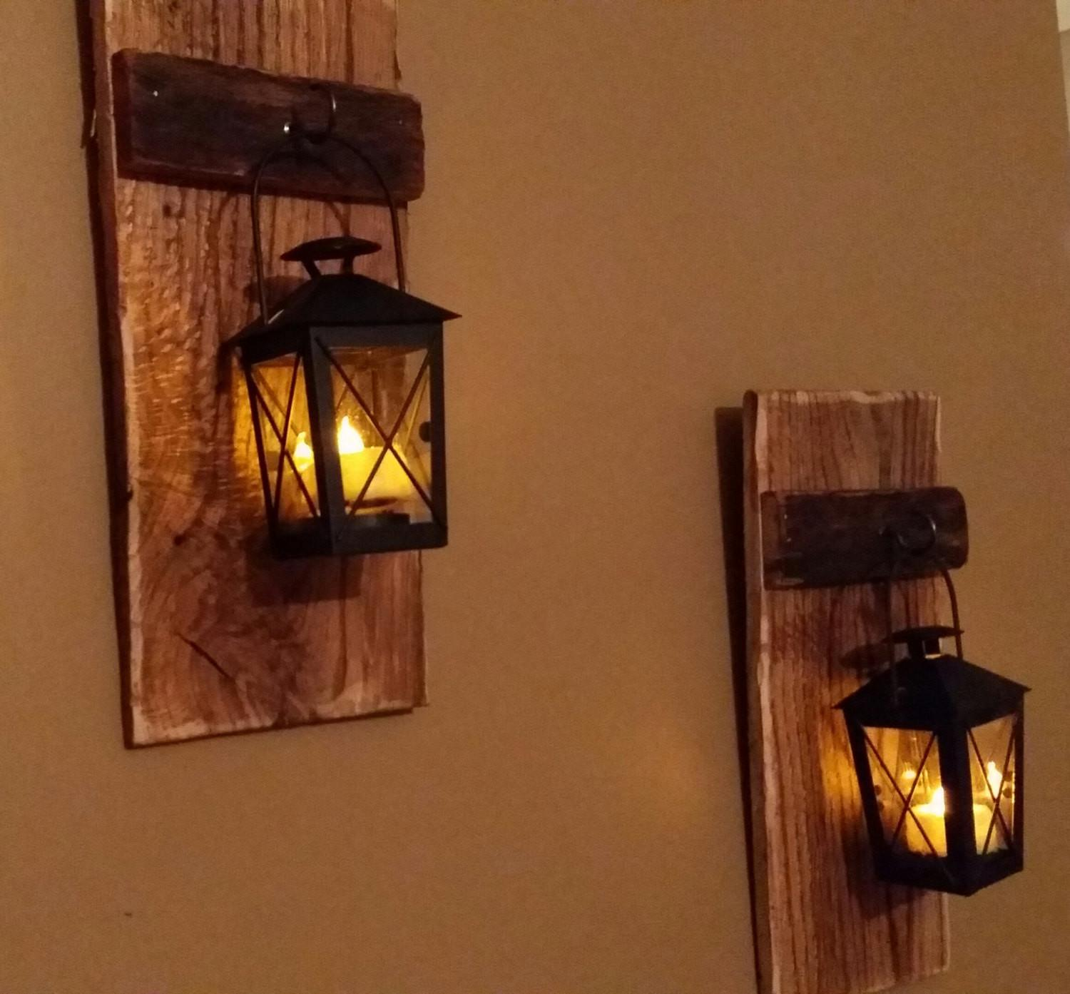 Rustic Wood Candle Holder Lantern12