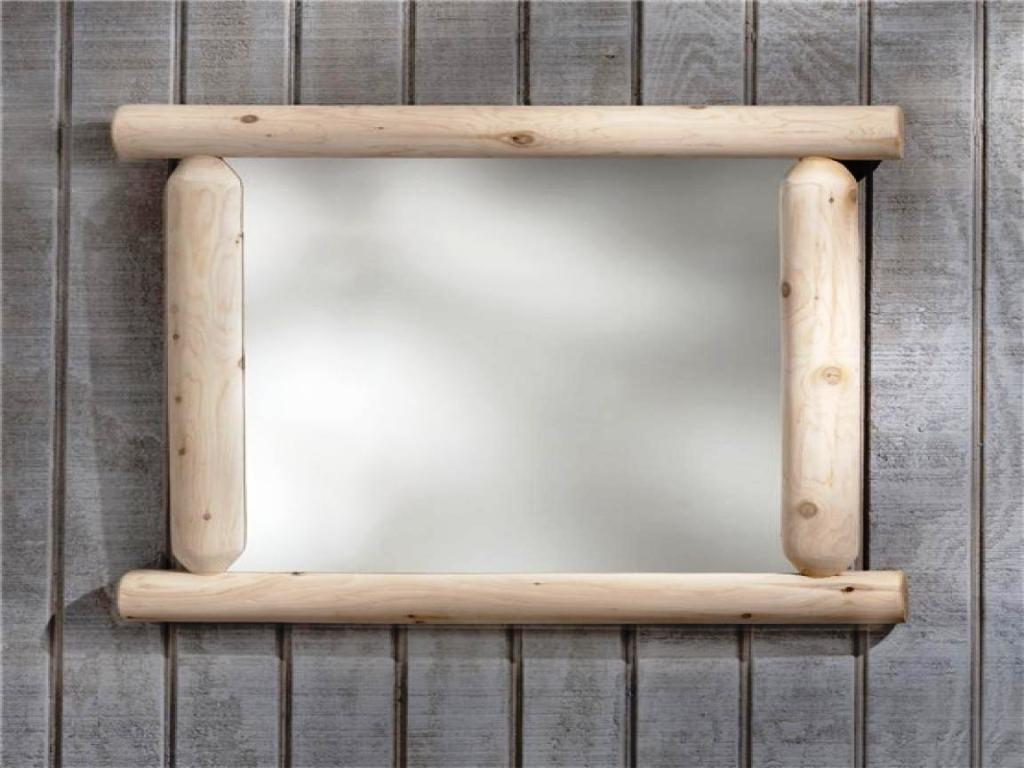 Rustic Wood Framed Bathroom Mirrors Unique