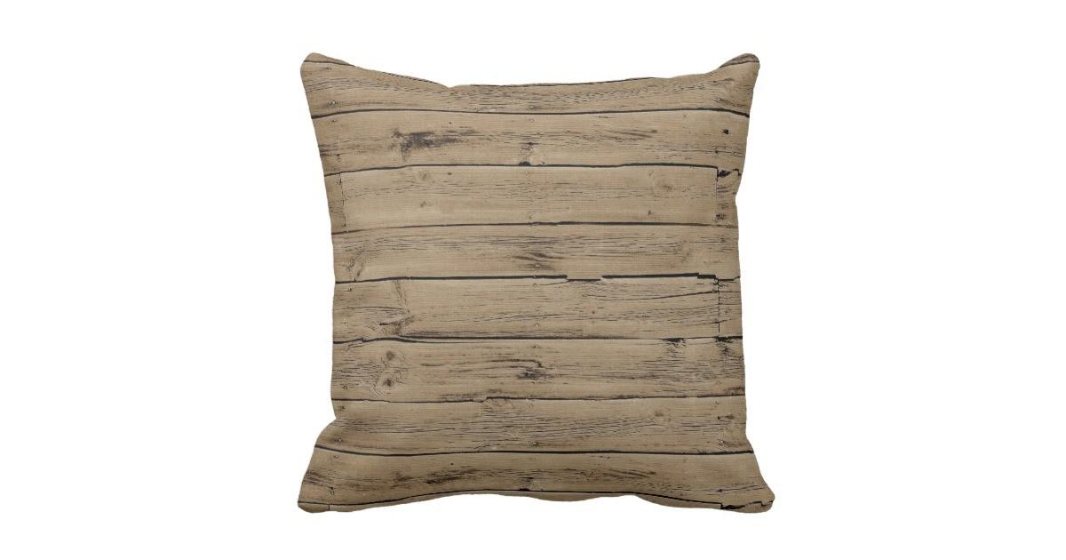 Rustic Wood Throw Pillow Zazzle