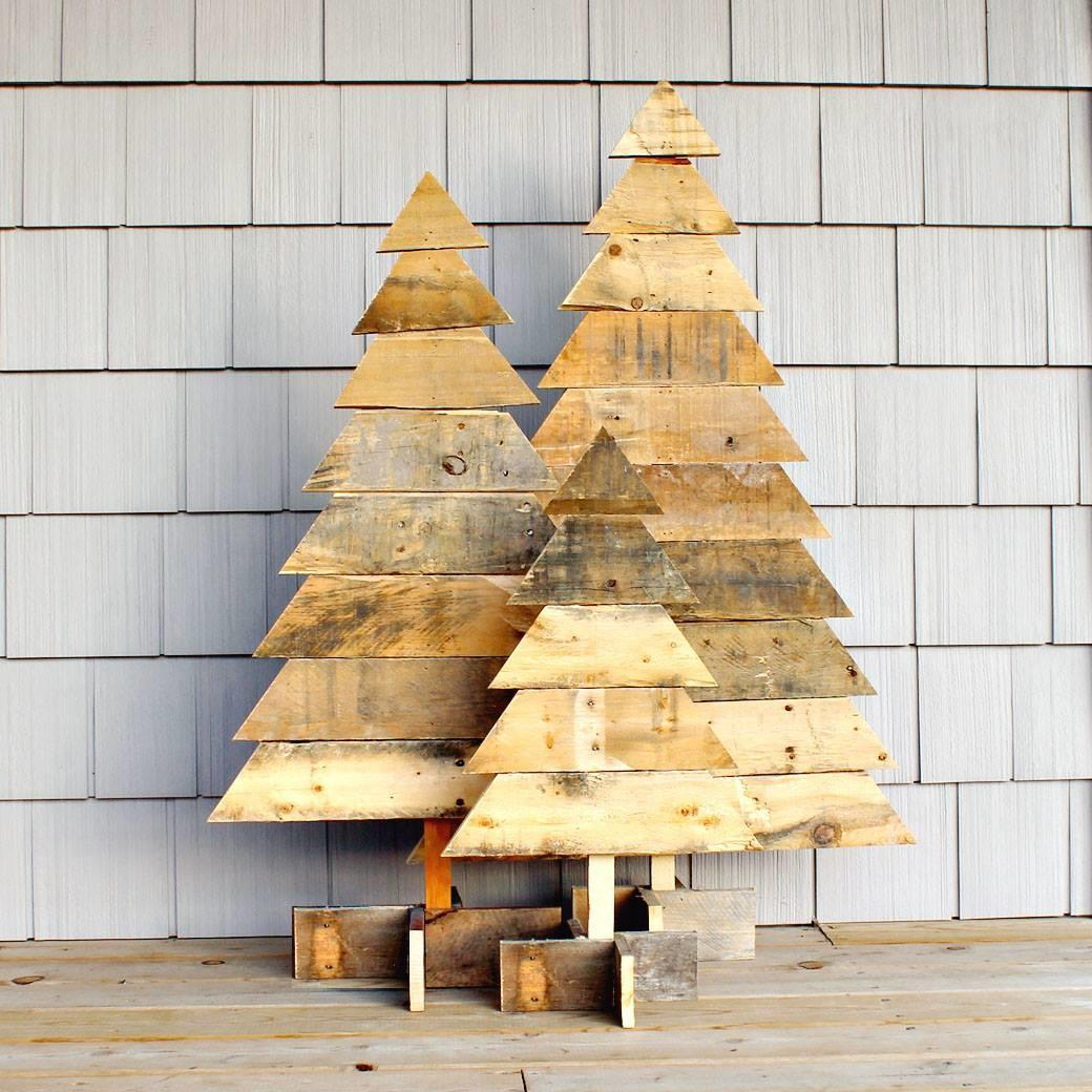 Rustic Wooden Christmas Trees Wheatland Avenue Designs