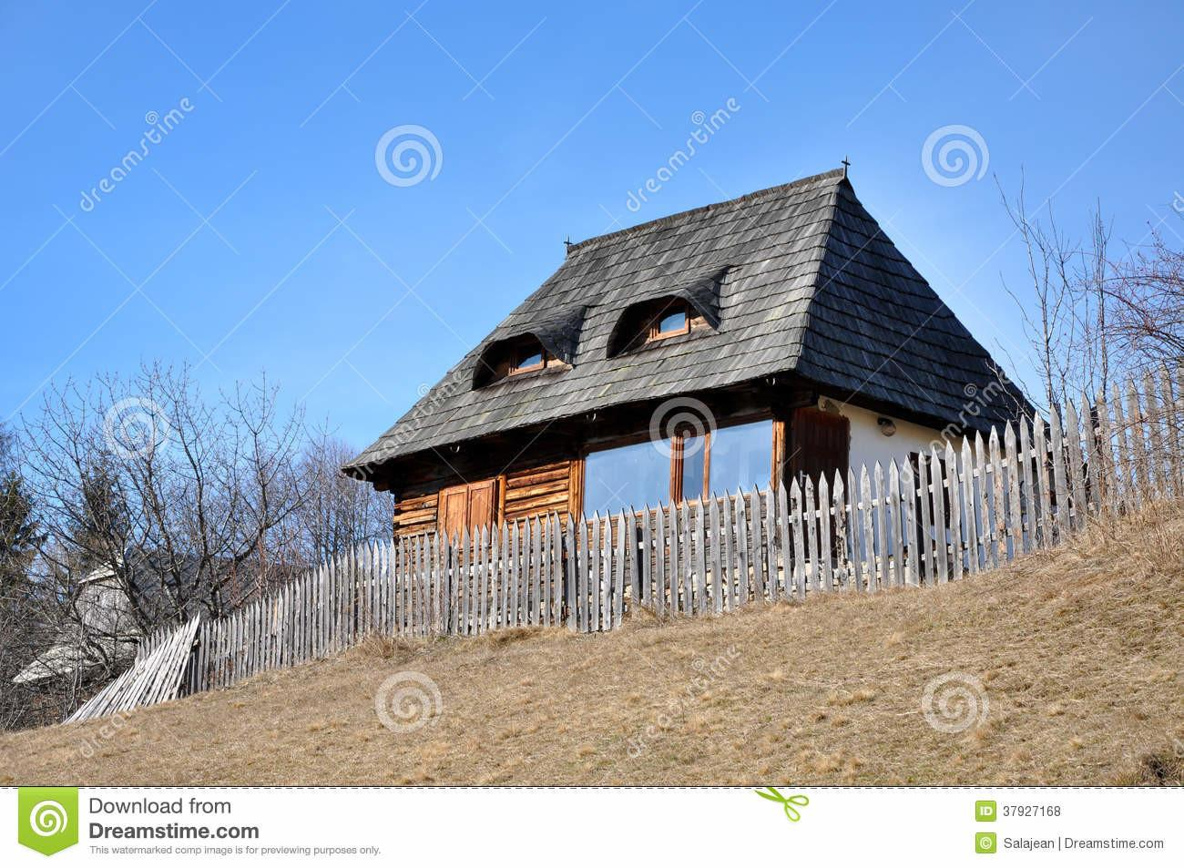 Rustic Wooden House Stock Bareness