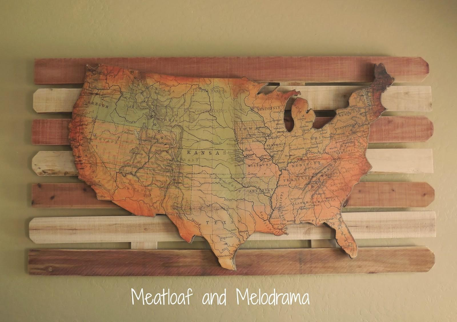 Rustic Wooden Wall Art Map Wilmington Tan Paint