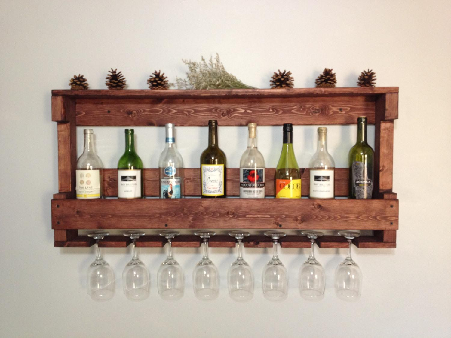 Rustic Wooden Wine Rack Dunnrusticdesigns Etsy