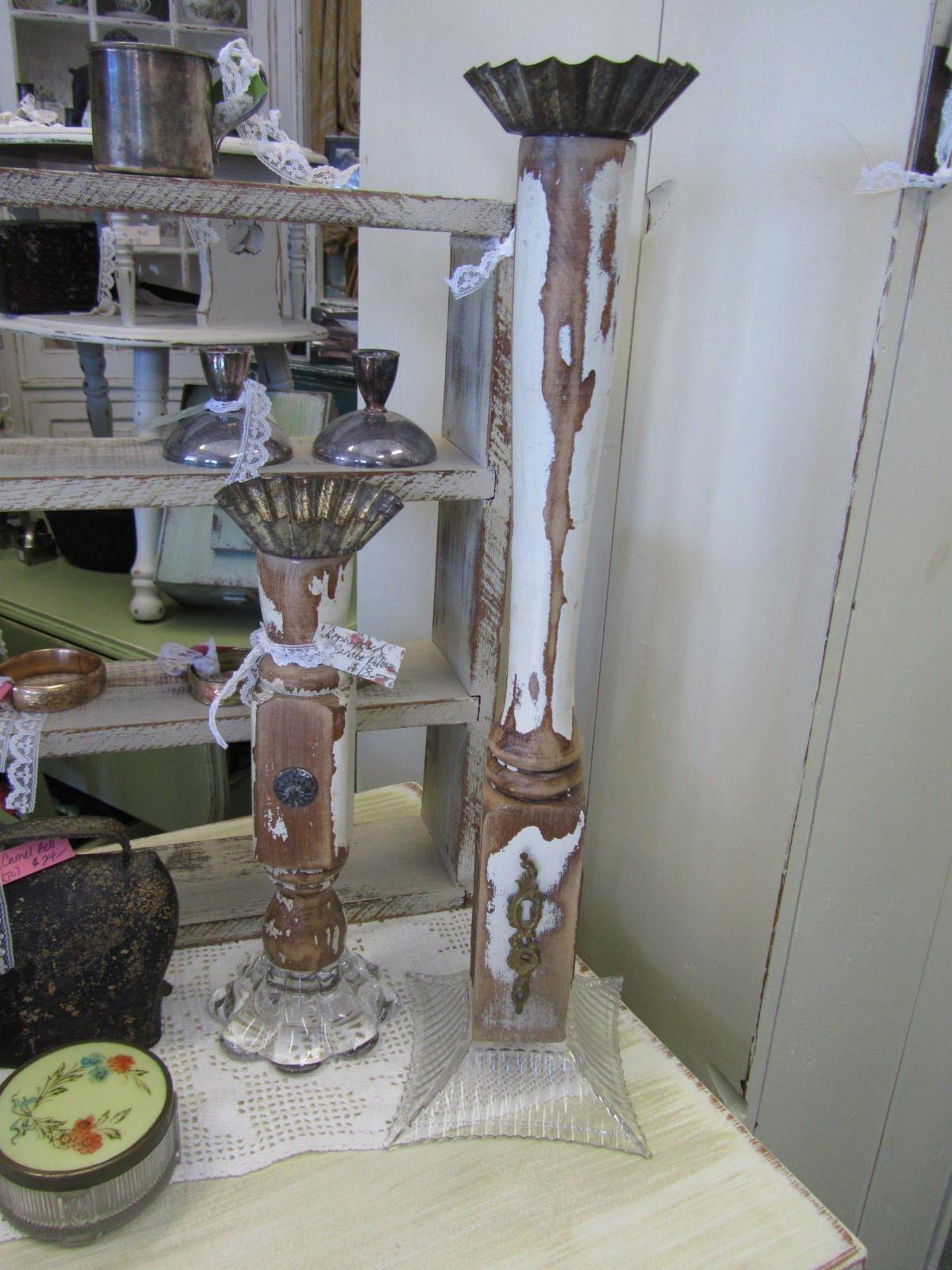 Rustique Rehab Boutique Pillar Candle Holders