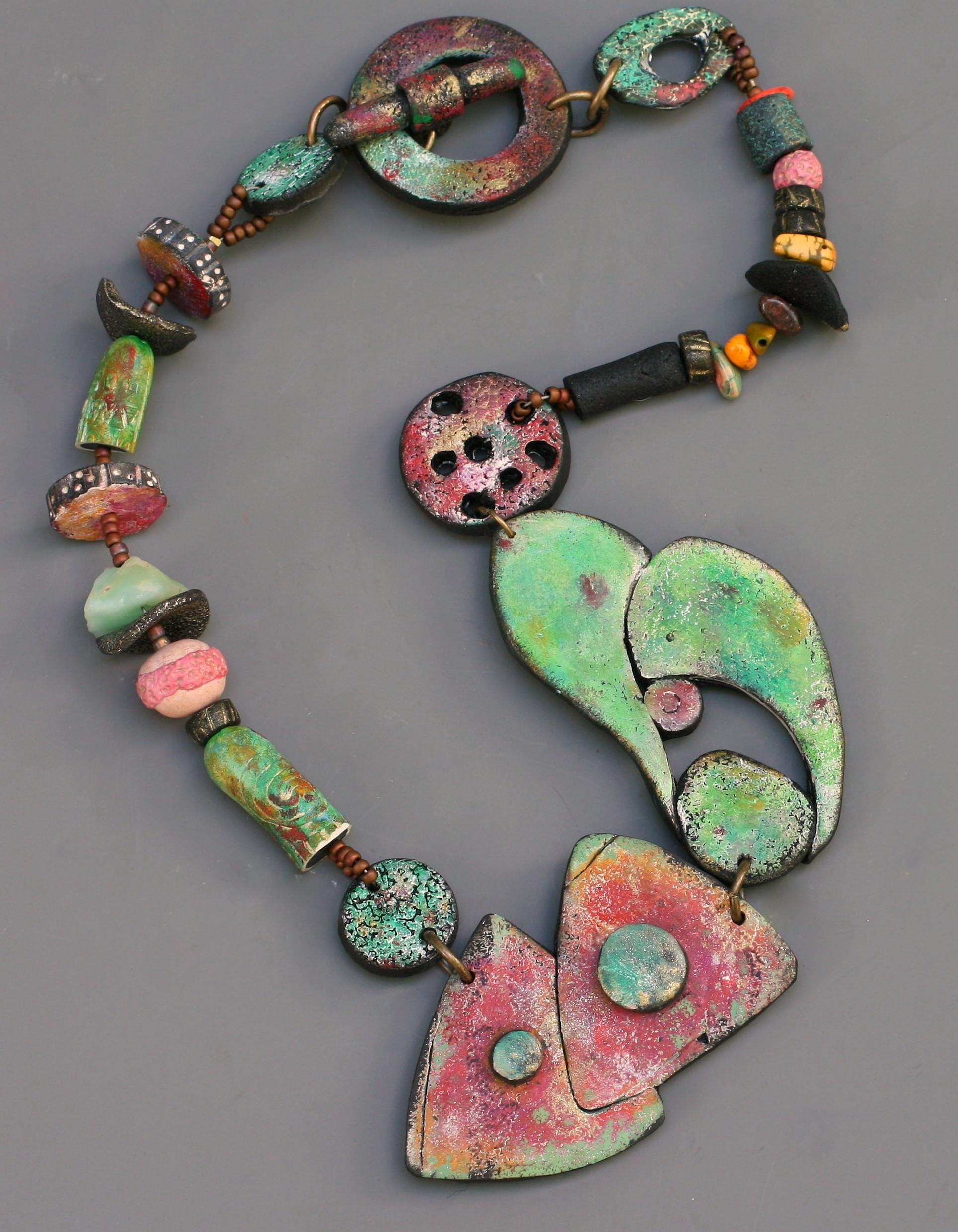 Rusty Garage Polymer Clay Necklace Jewelry Making Journal