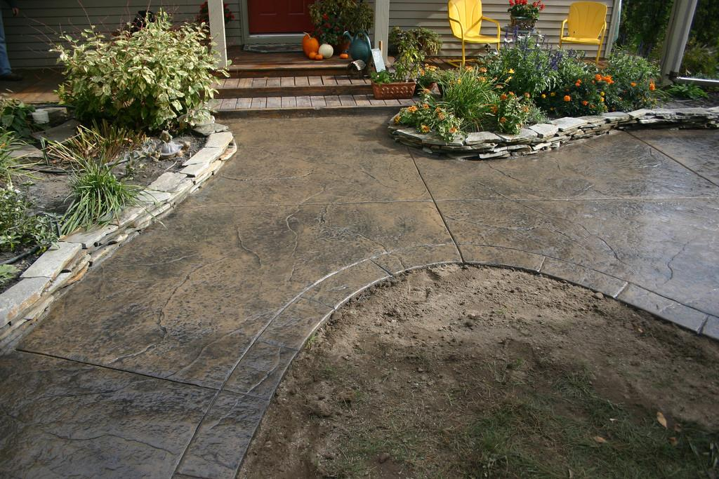 Ryan Job Seamless Stamped Concrete Patio Sidewalk