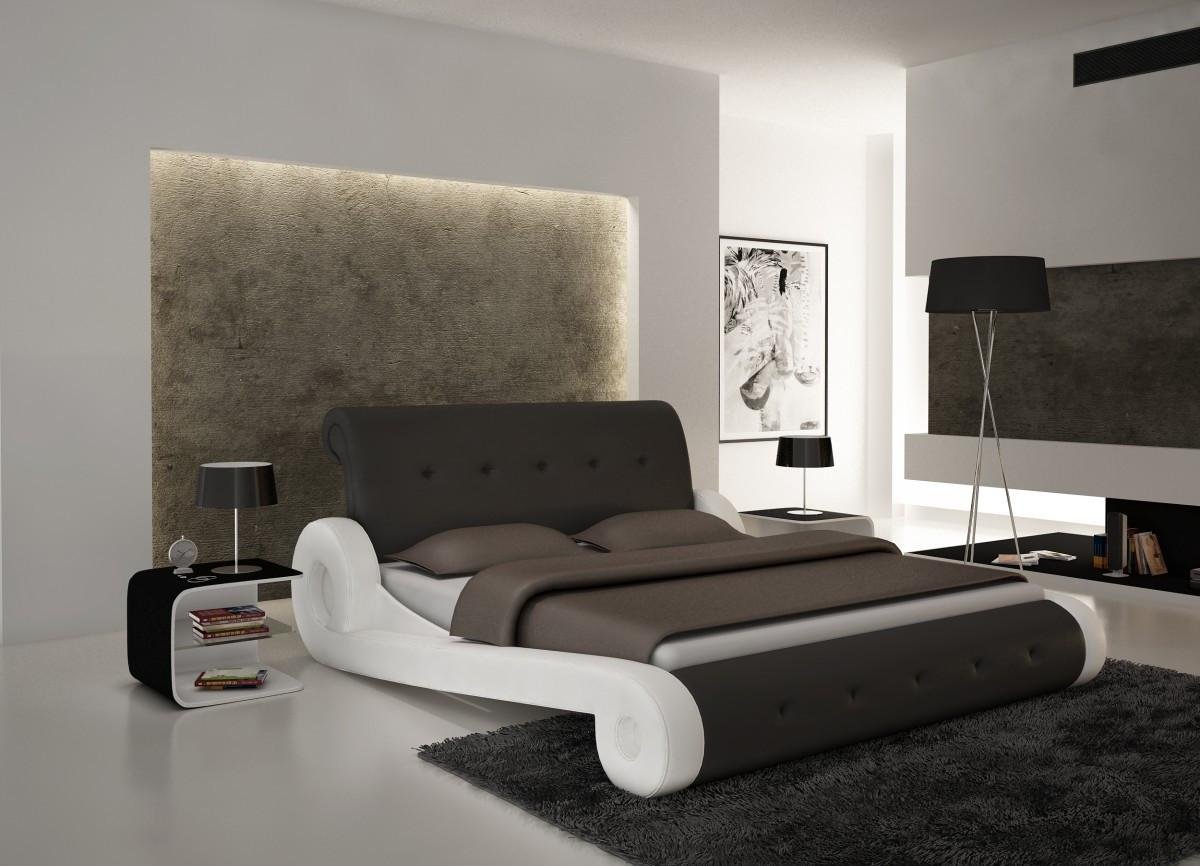 S610 Contemporary Eco Leather Bed