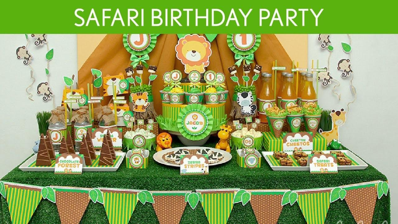 Safari Birthday Party Ideas B47