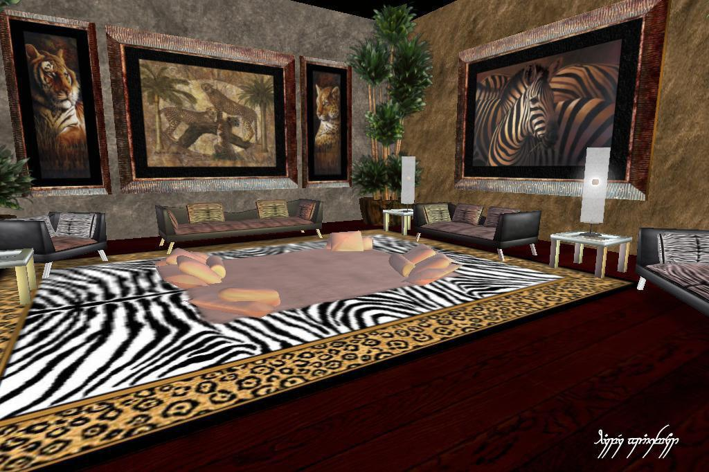 Safari Room Around Grid