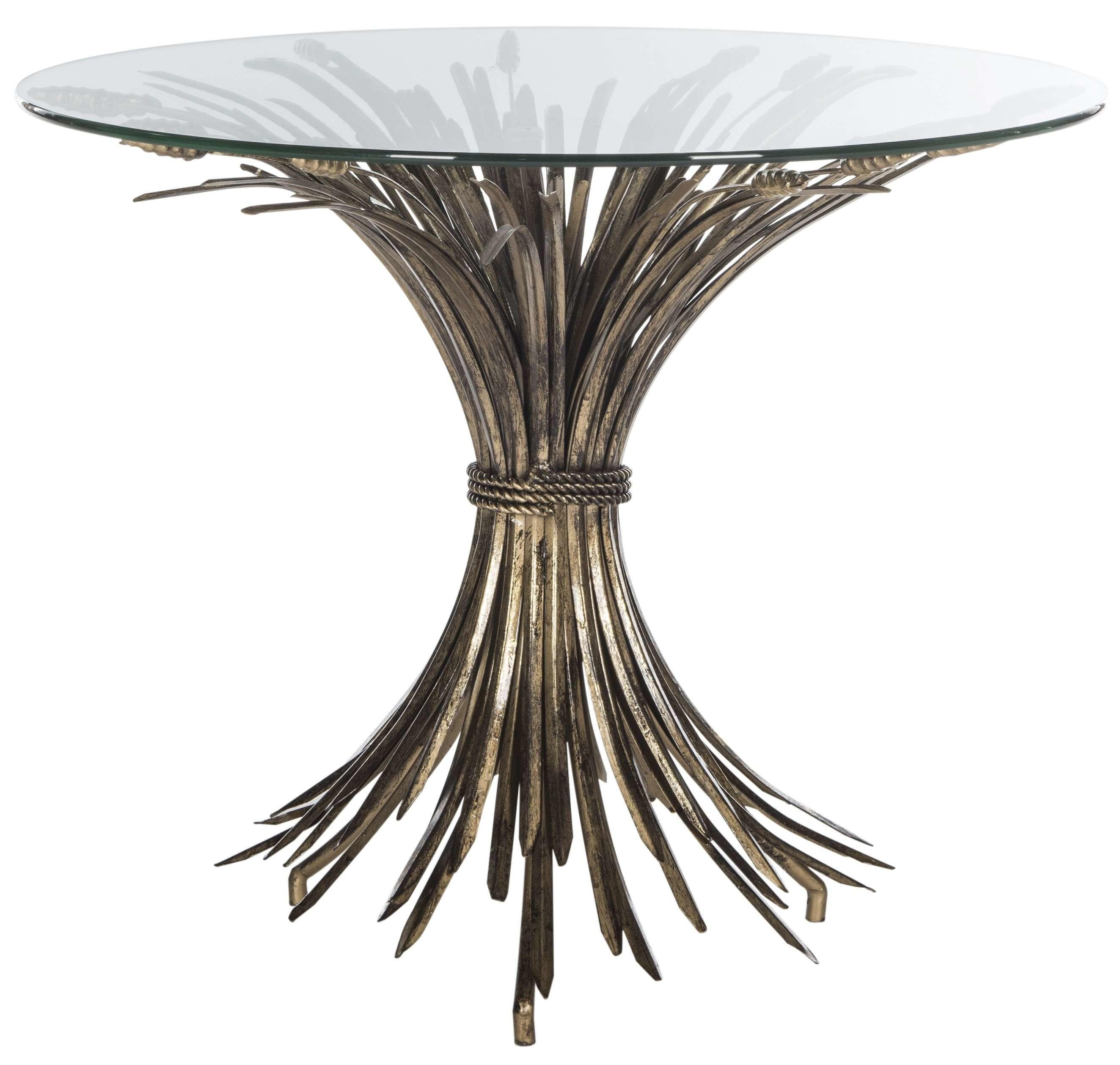 Safavieh Ayris Sheaf Gold Leaf Accent Table Goedekers