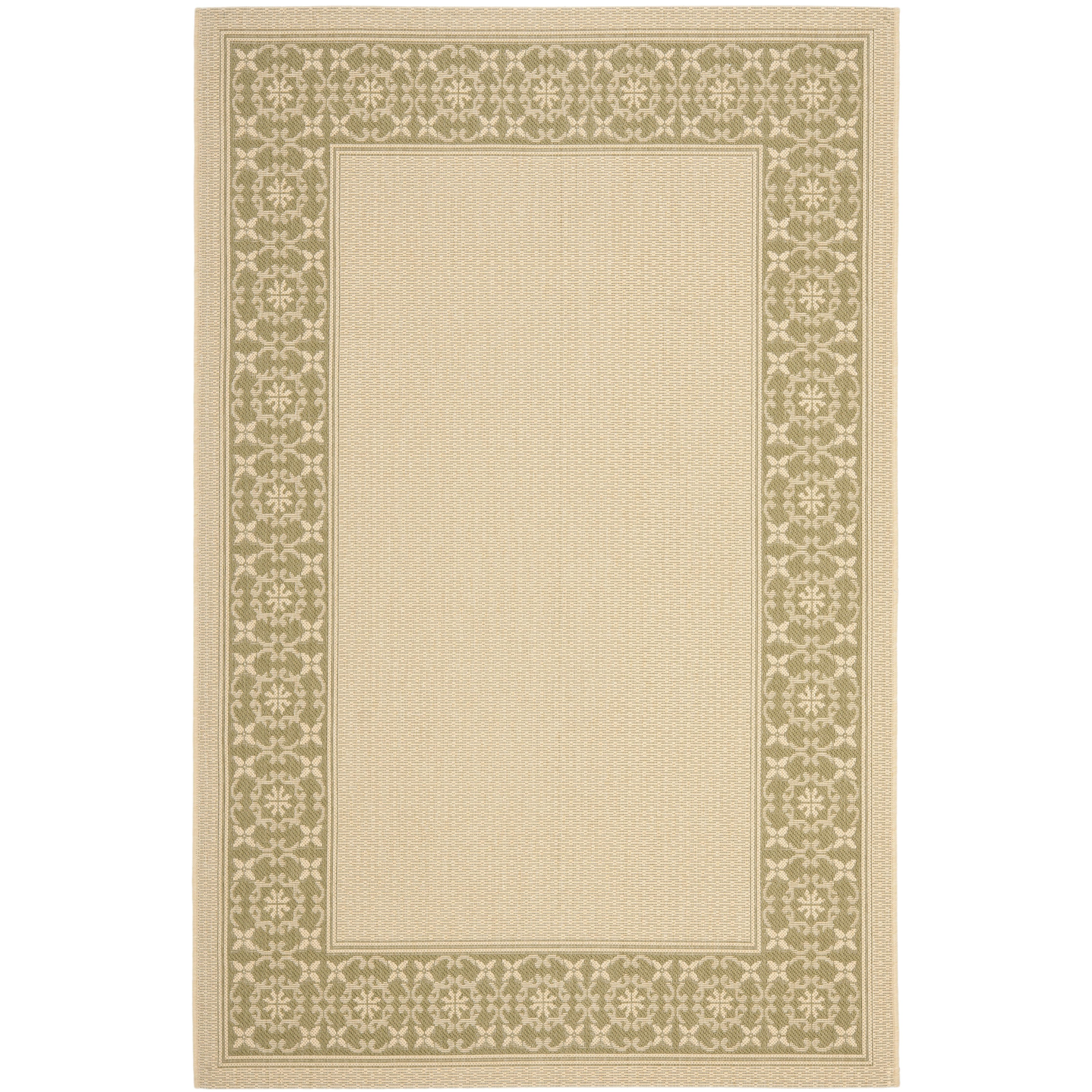 Safavieh Courtyard Cream Green Floral Indoor Outdoor Rug