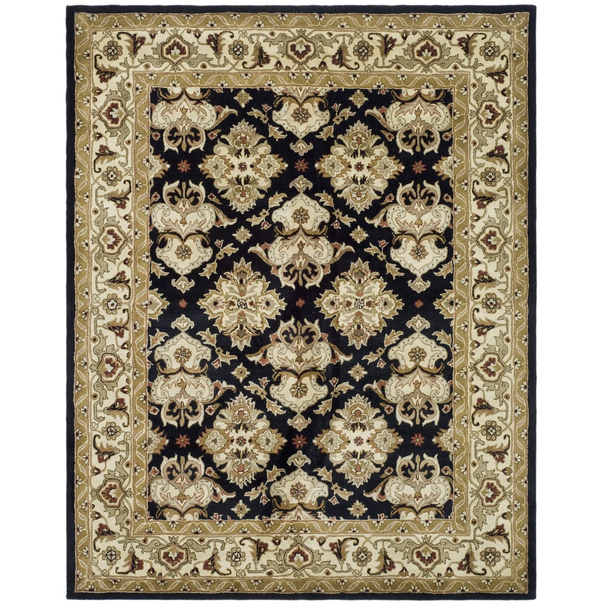 Safavieh Hand Tufted Heritage Black Ivory Wool Area Rugs