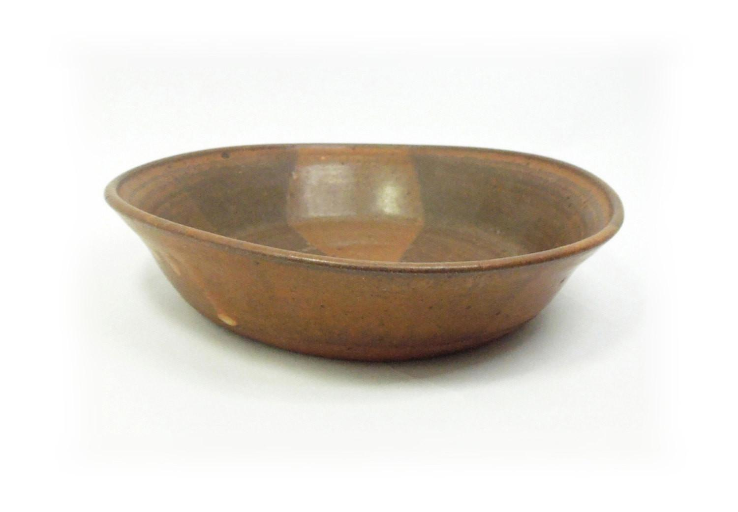 Sale Ceramic Bowl Brown Trinket Catch All