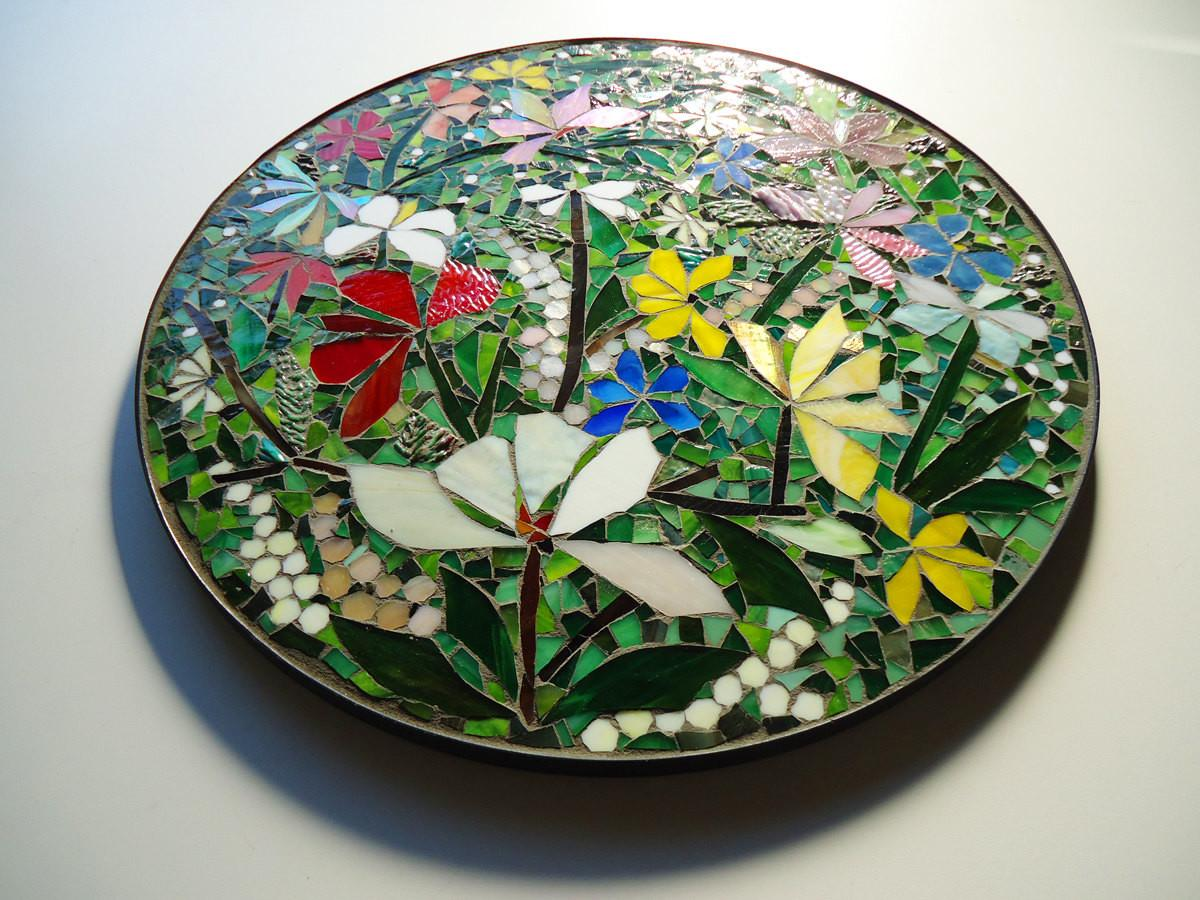 Sale Floral Mosaic Art Wall Decor Table Top