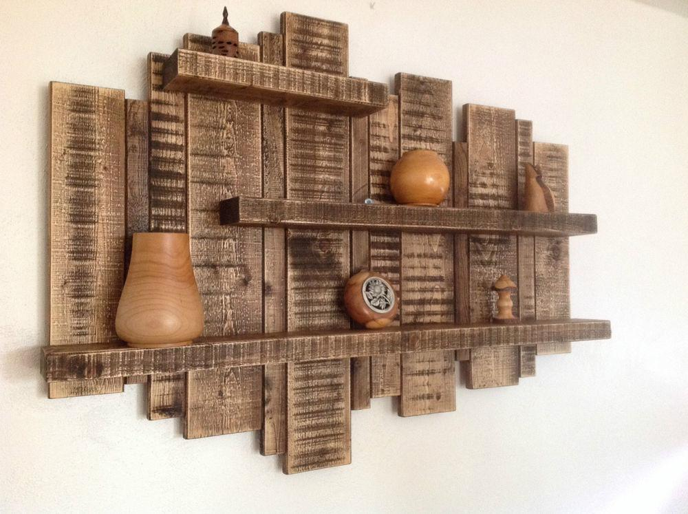 Sale Large Wall Mounted Rustic Floating Shelf Solid