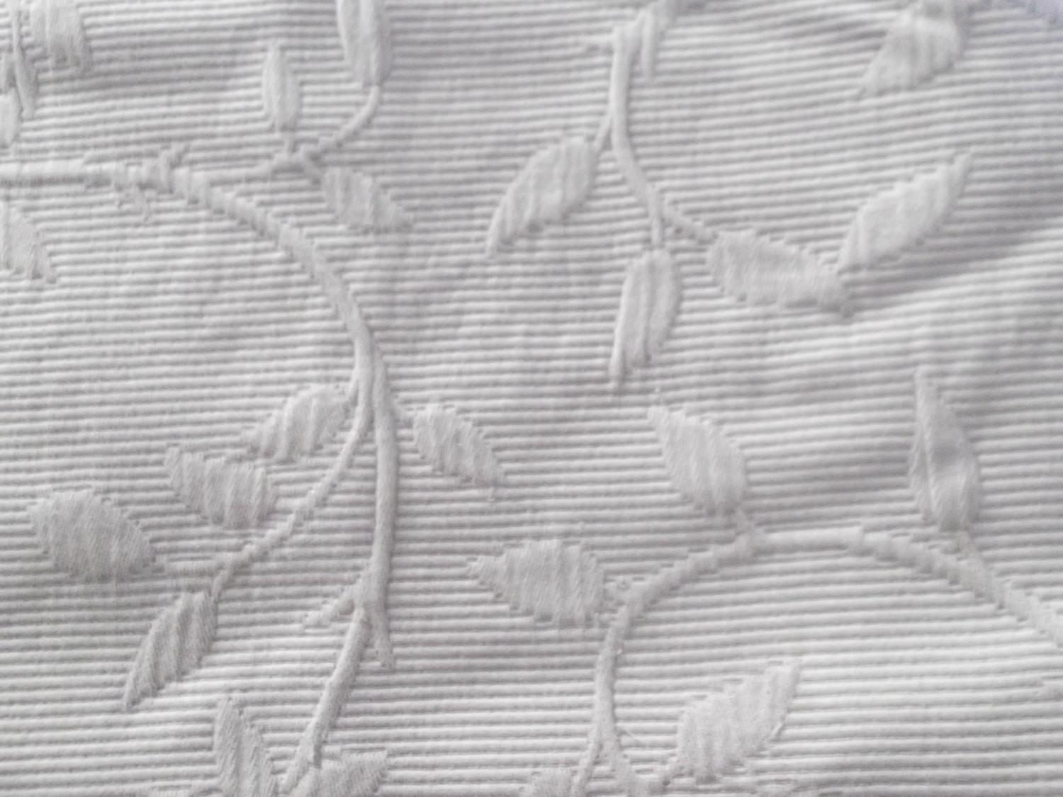 Salevintage French Matelasse Coverlet Pure Cotton Taupe
