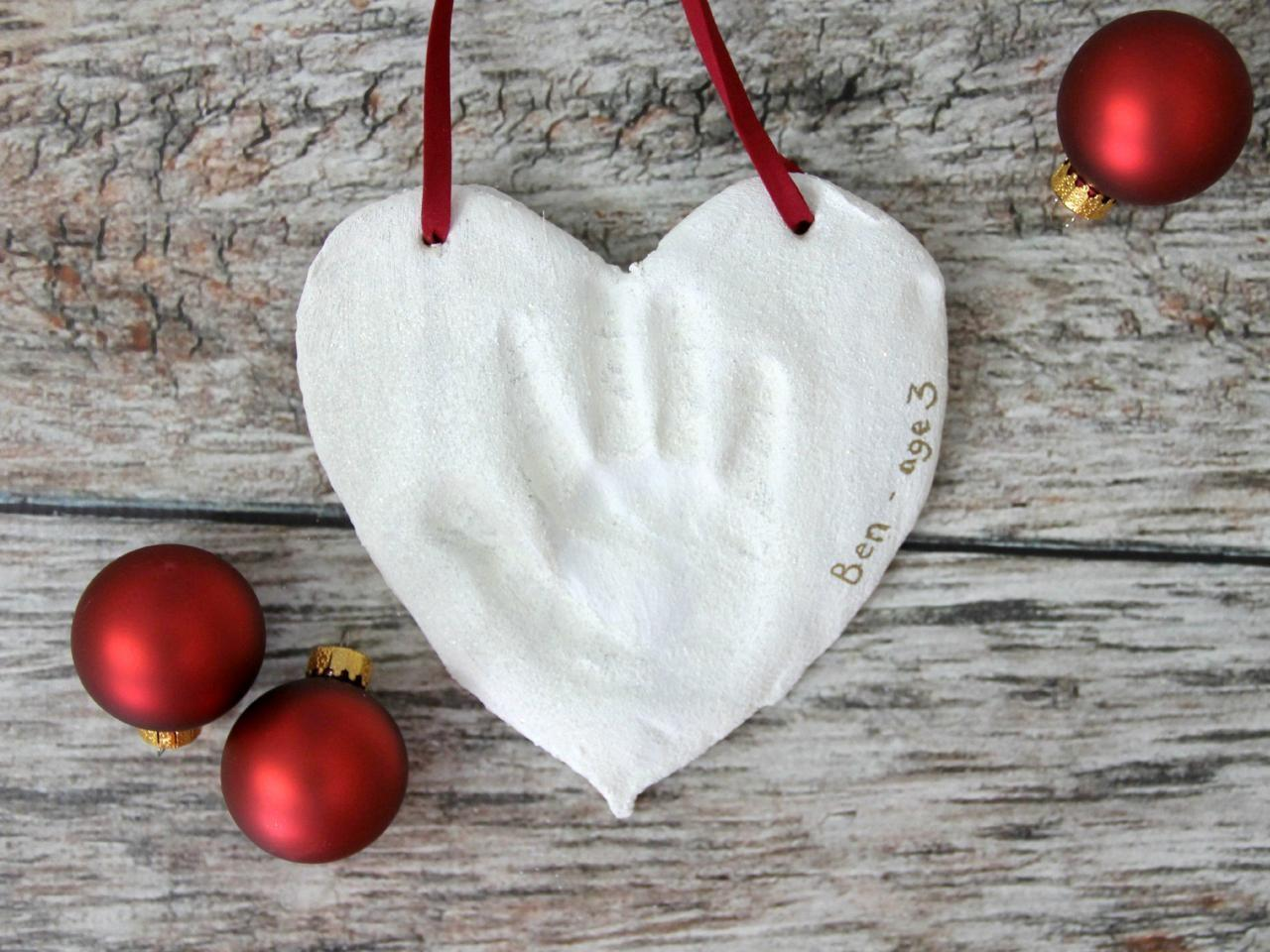 Salt Dough Handprint Christmas Ornaments Tos Diy