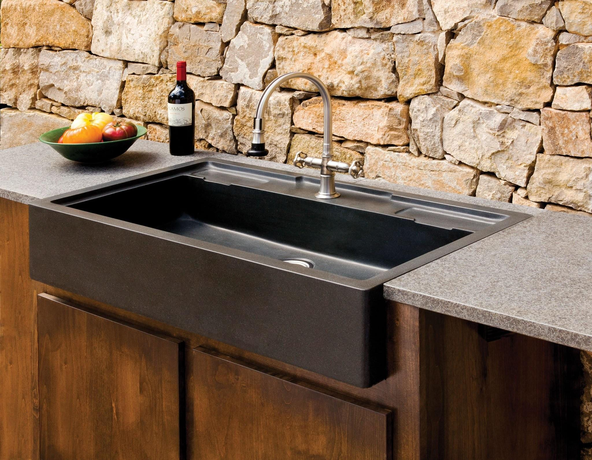 Salus Outdoor Kitchen Sink Stone Forest