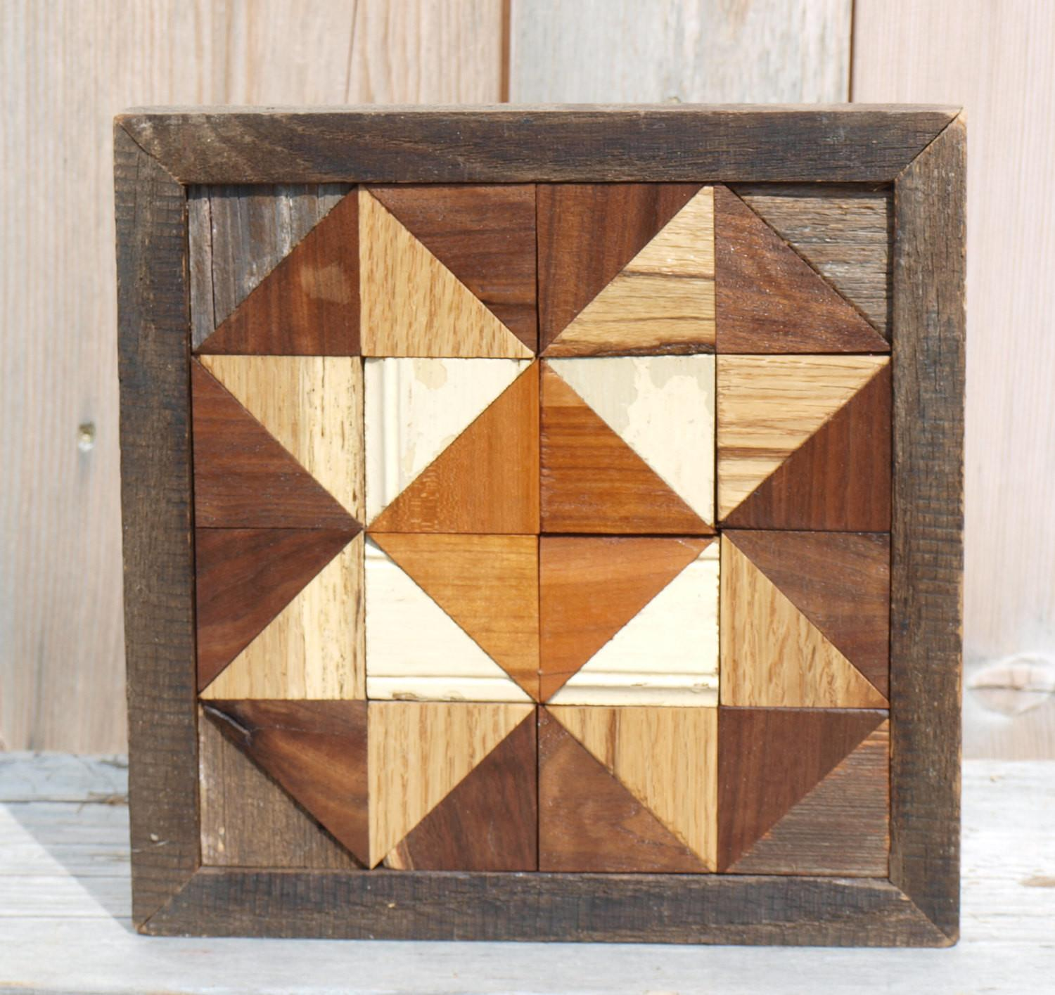 Salvaged Barn Board Wall Decor Geometric Art Wood