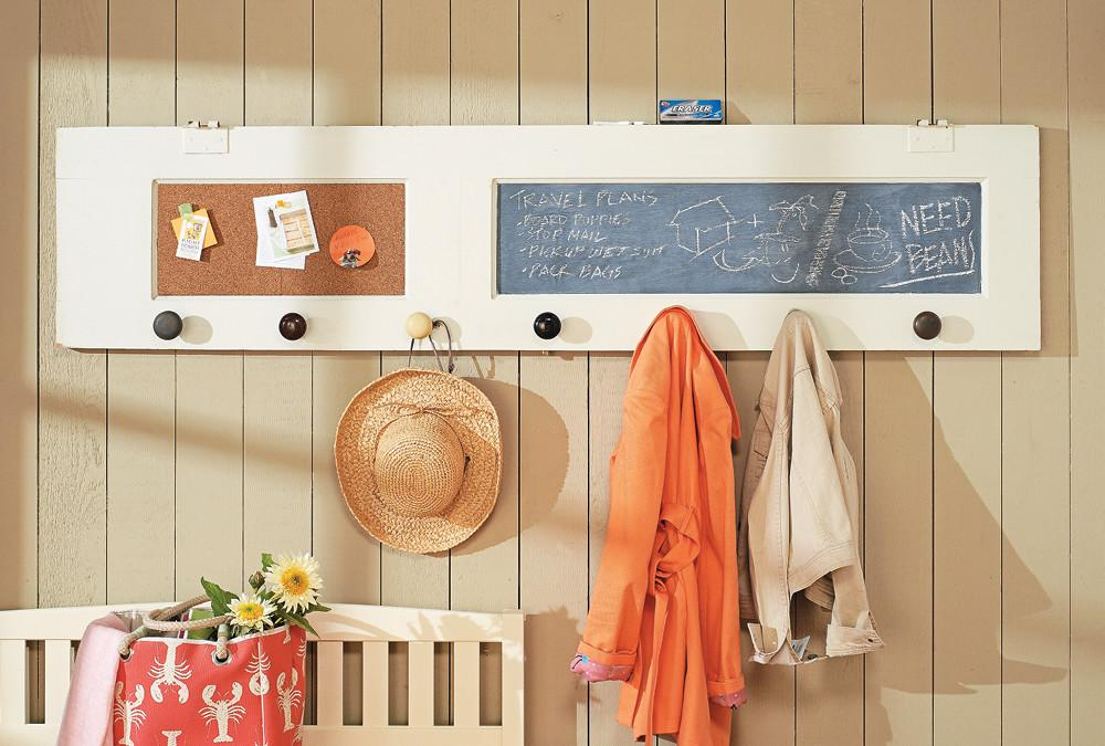 Salvaged Door Coat Rack Home Style