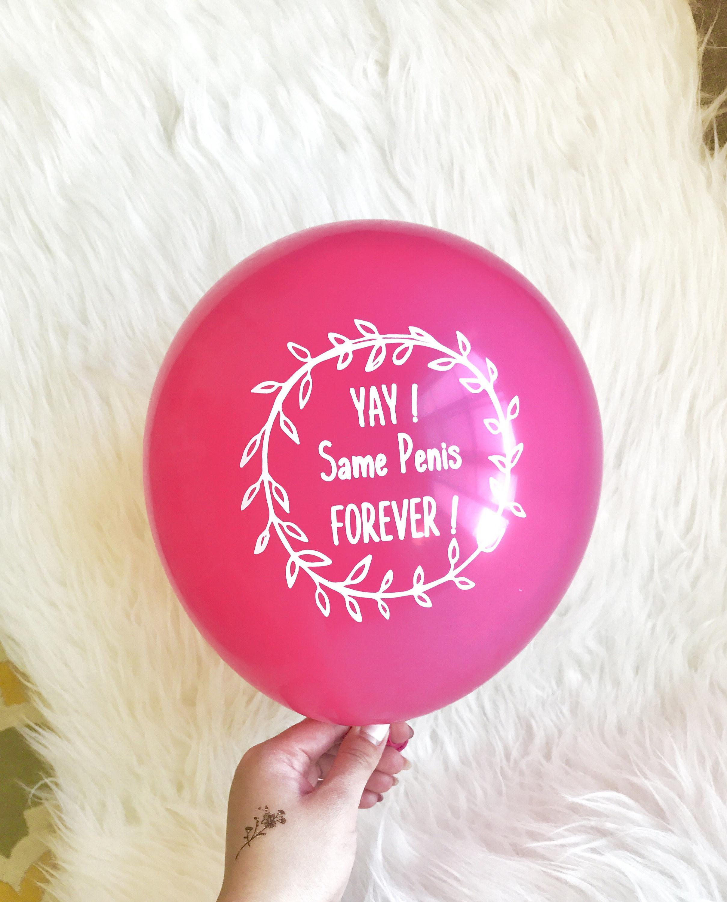 Same Penis Forever Decorations Balloon Set Hot Pink