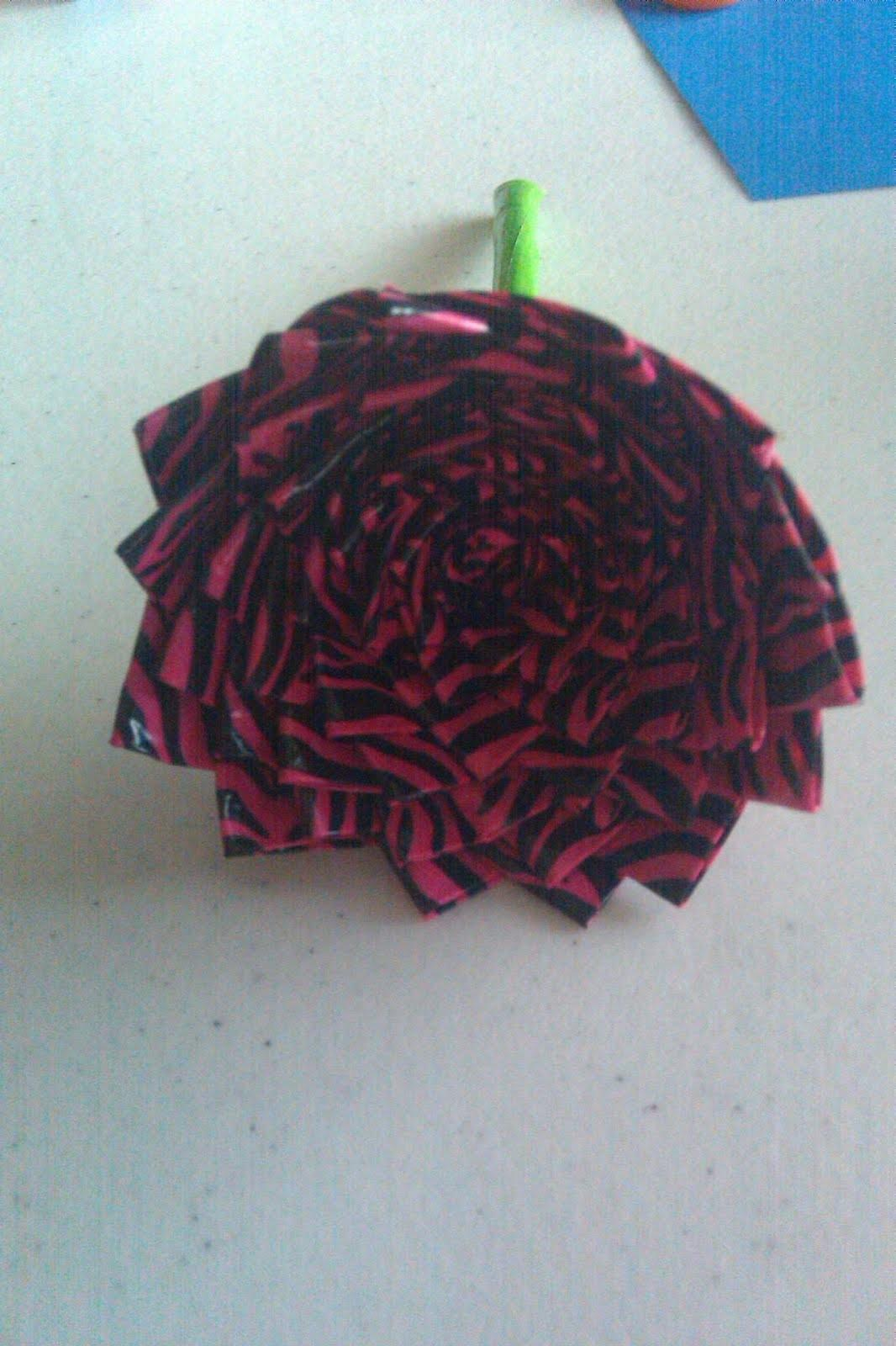 Sandy Crafty Creations Duct Tape Flower