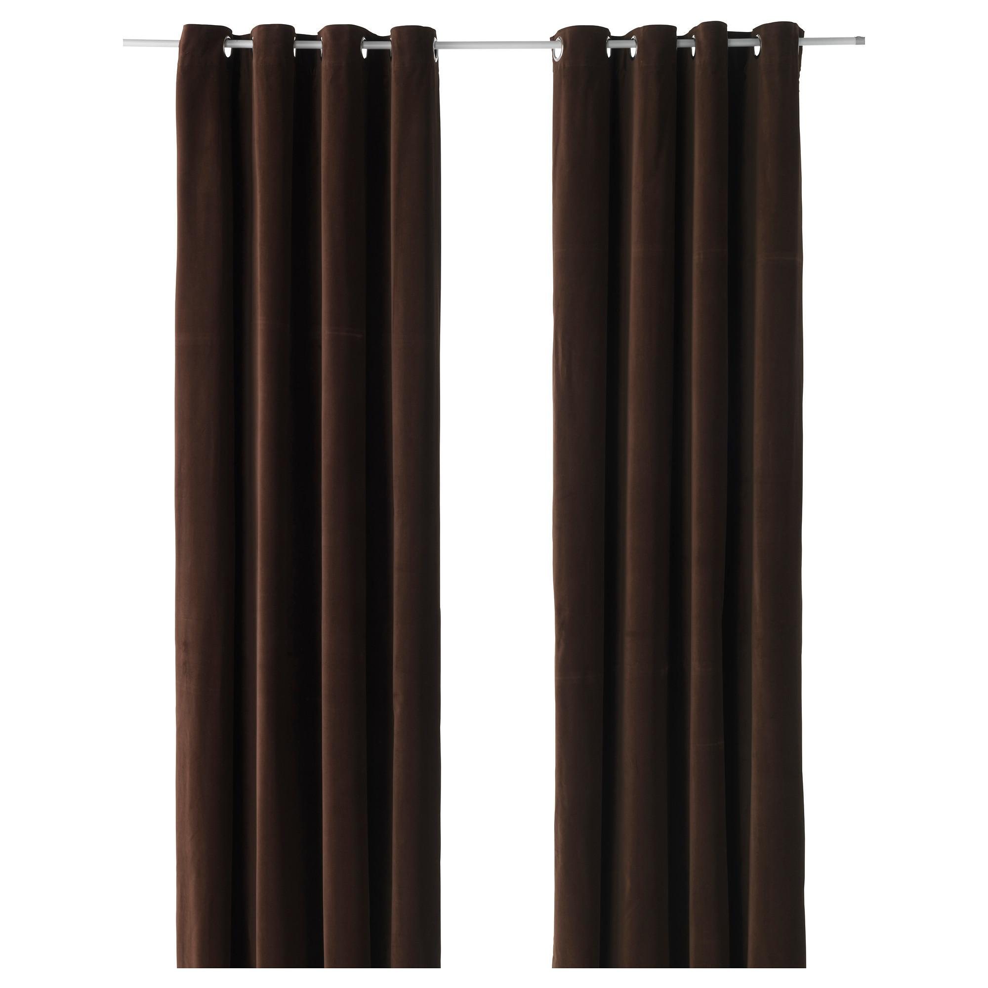 Sanela Curtains Pair Brown