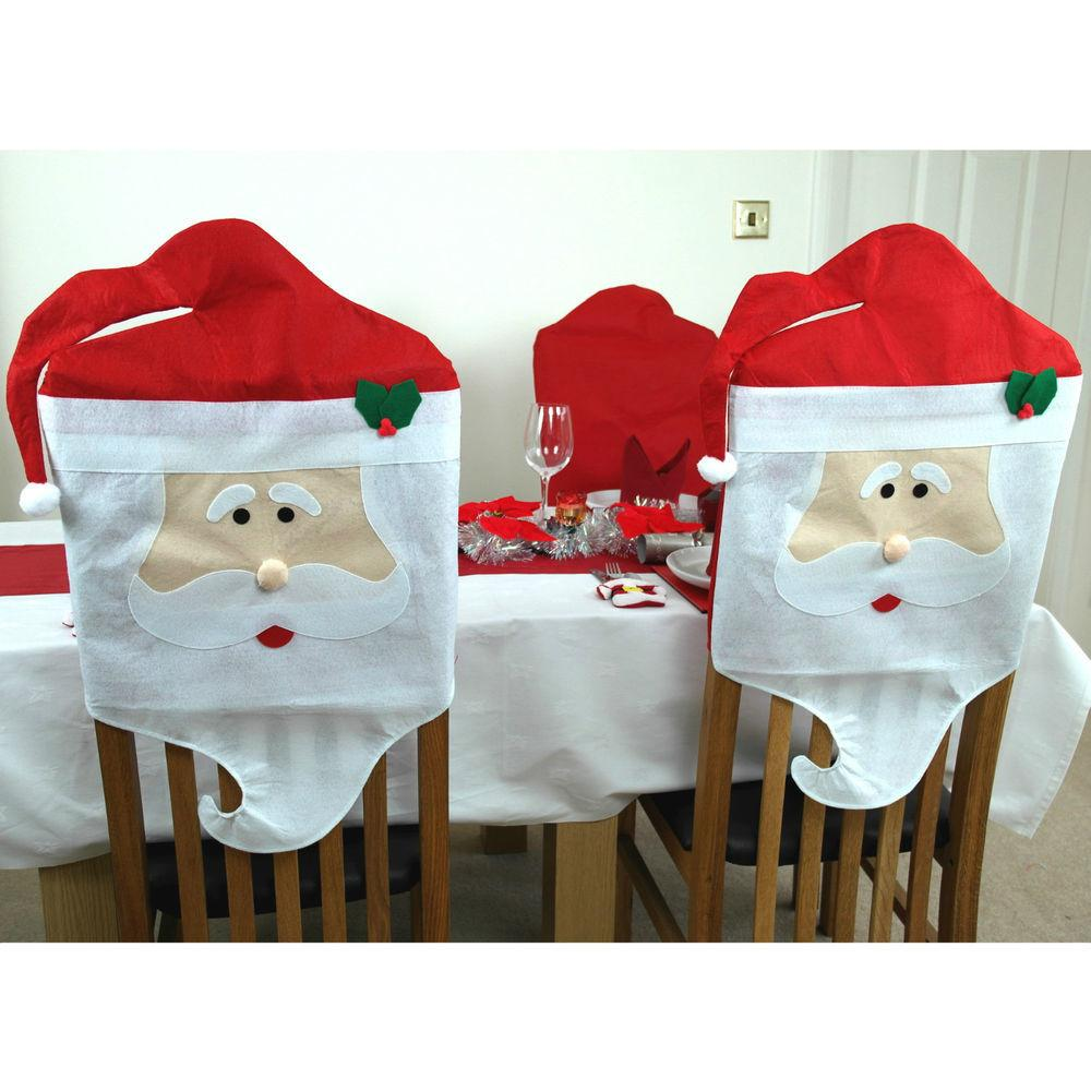 Santa Dining Chair Covers Father Christmas Decorations