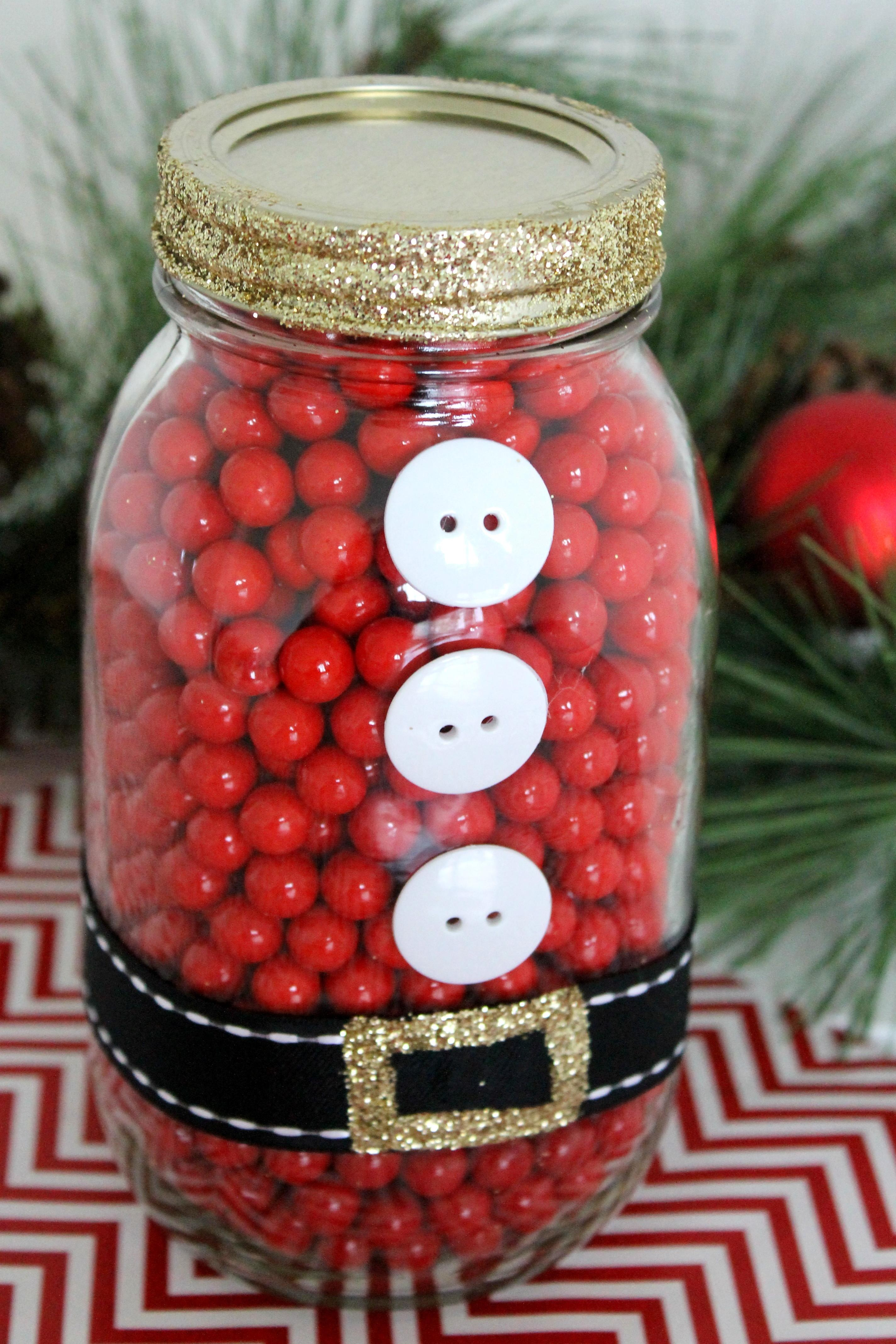 Santa Mason Jar Diy Catch Party