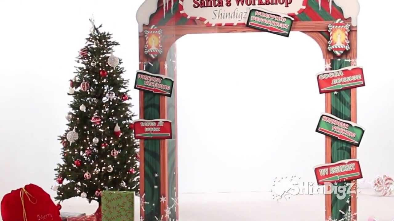 Santa Workshop Personalized Arch Party Supplies