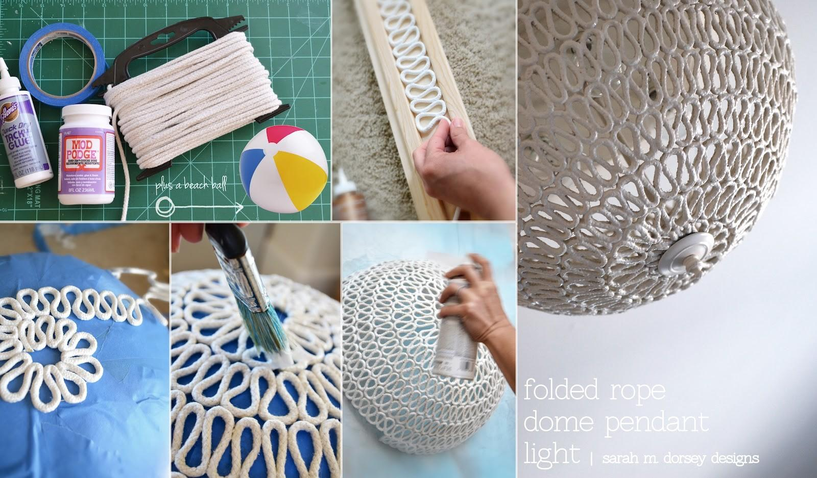 Sarah Dorsey Designs Diy Folded Rope Dome Pendant