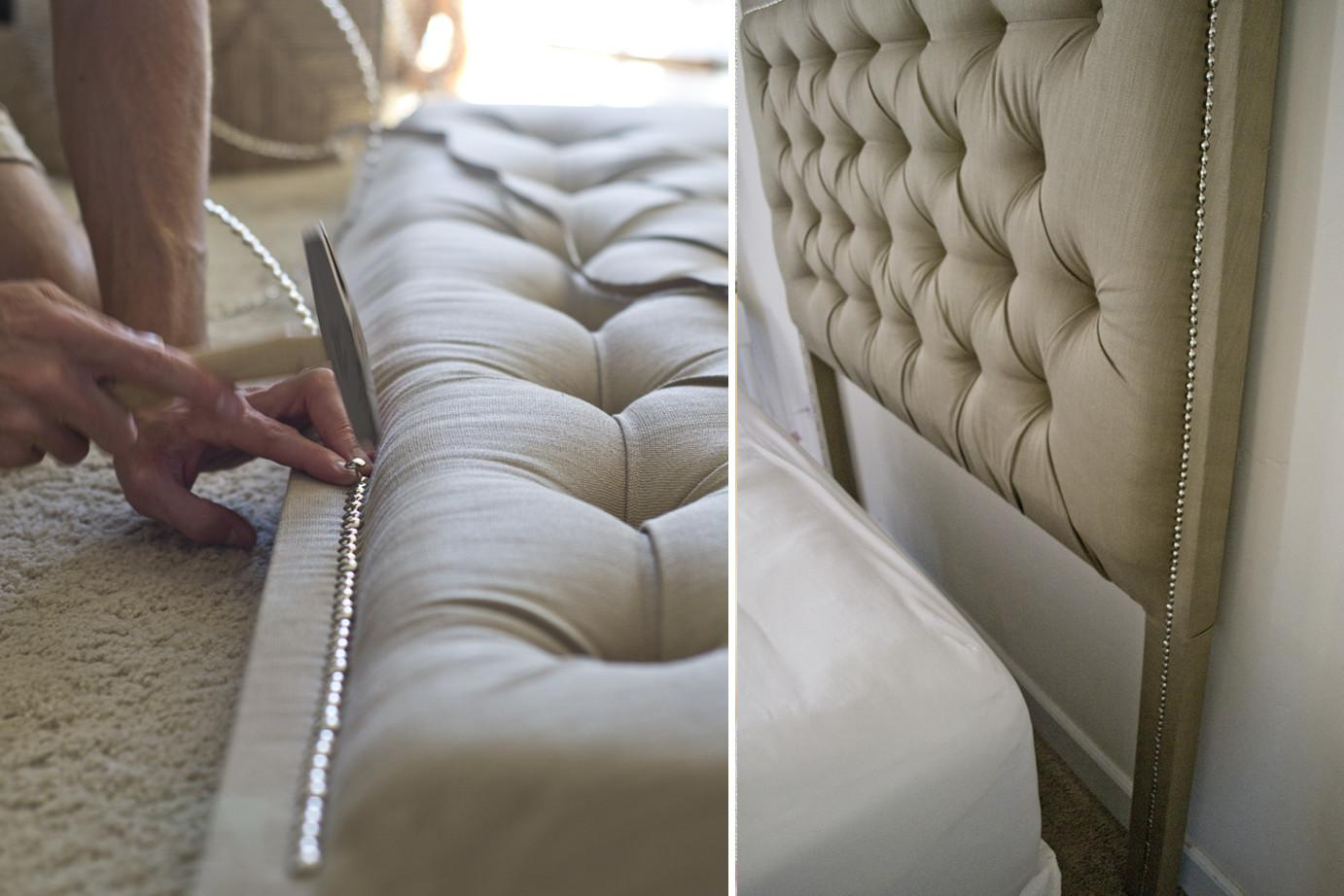 Sarah Dorsey Designs Tufted Headboard Nailhead