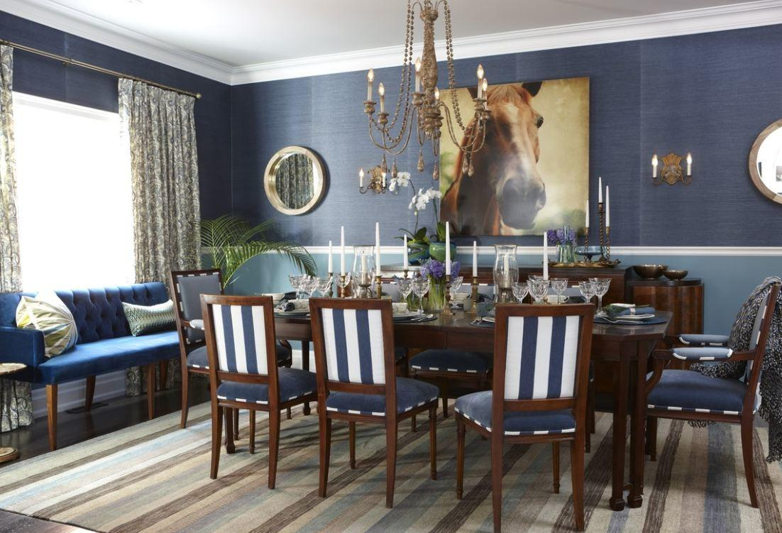 Sarah House Season Blue Dining Room Hooked Houses