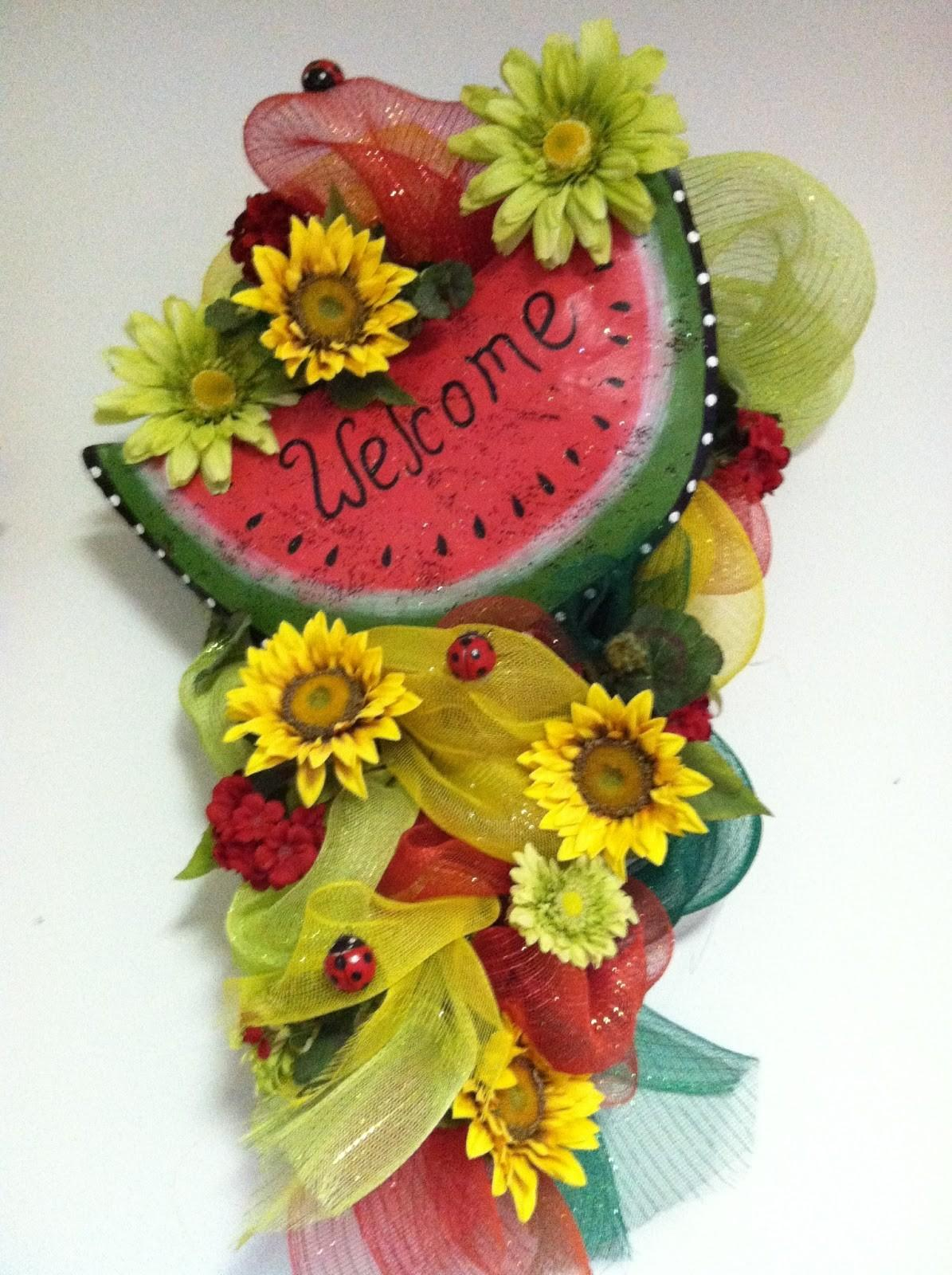 Sassy Decor More Watermelon Wreath