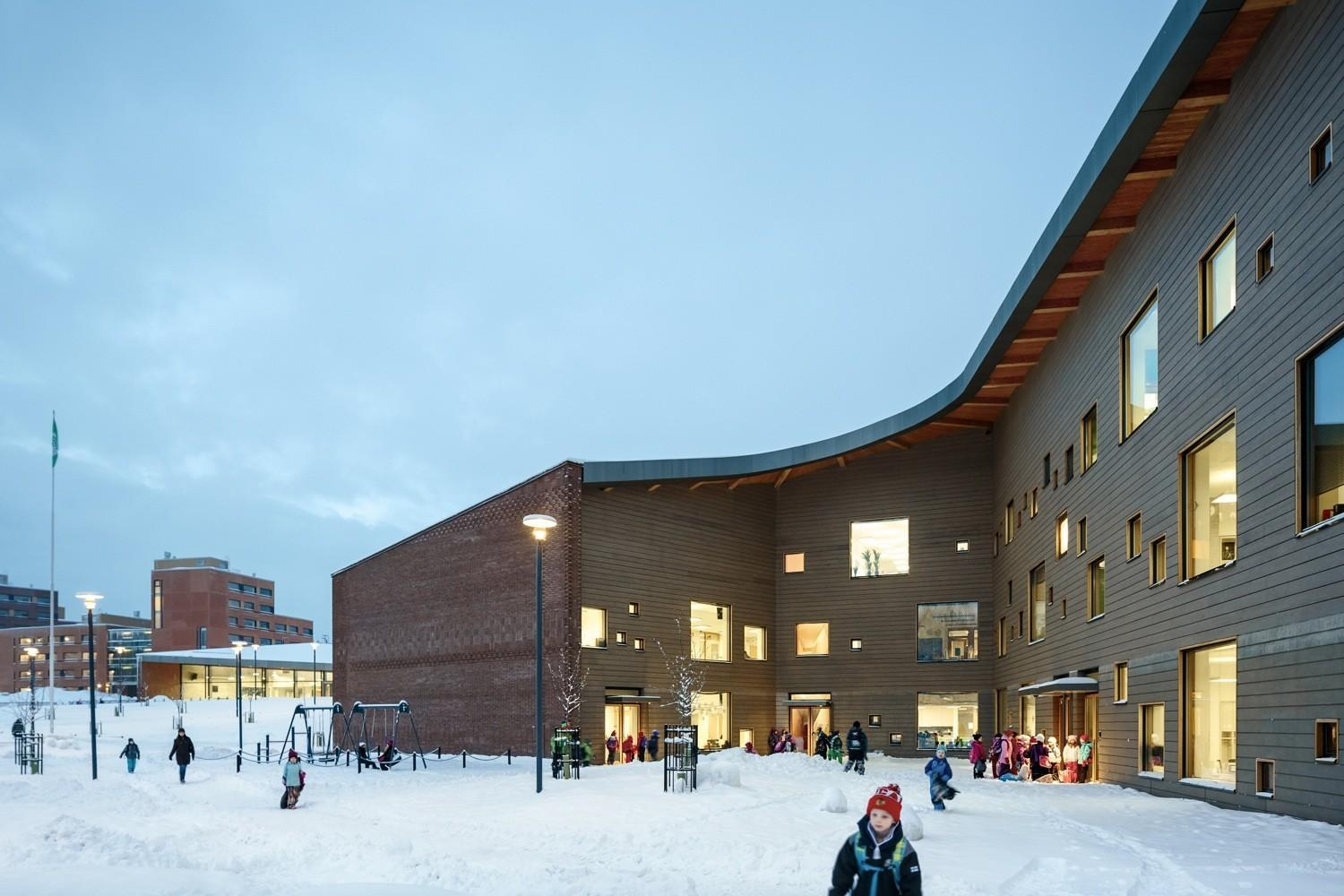Saunalahti School Verstas Architects Archdaily