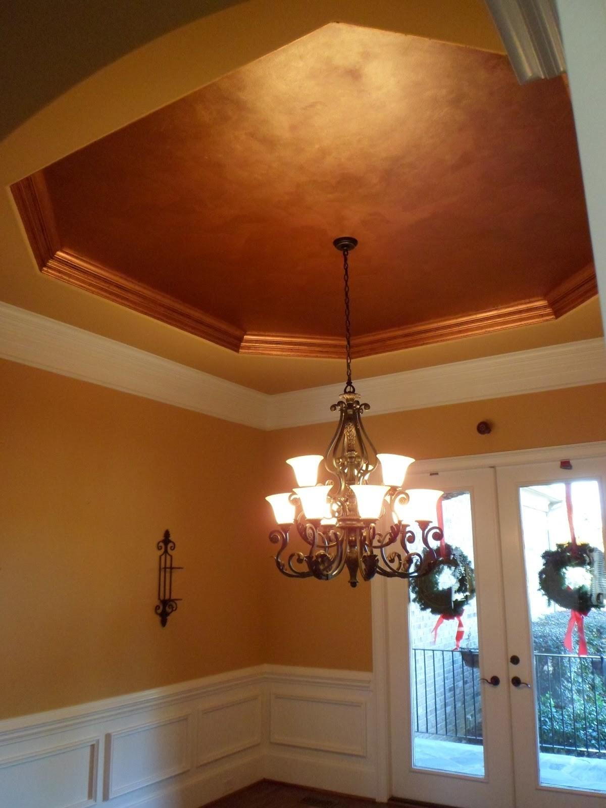 Savard Studios Dramatic Dining Room Foyer Ceiling