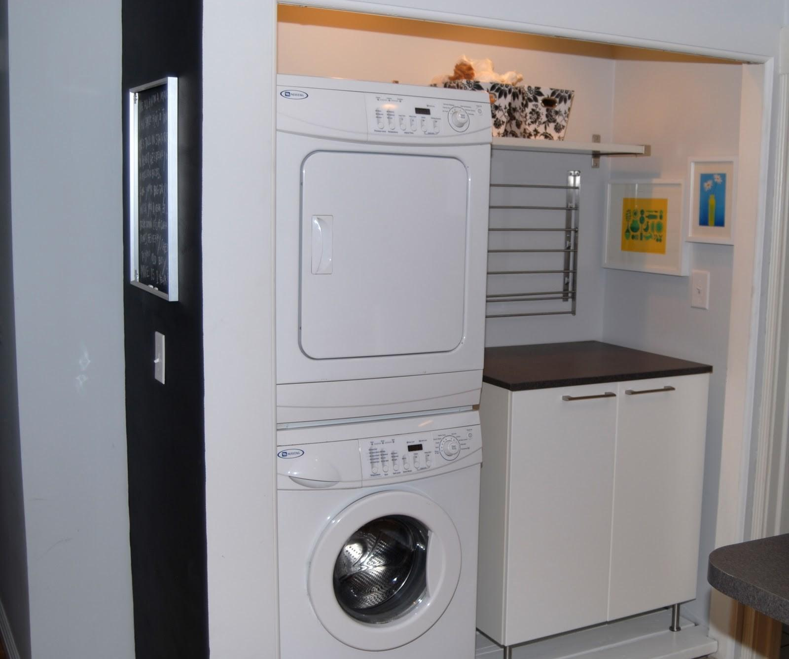 Saving Small Spaces Laundry Room Design Using Stacked